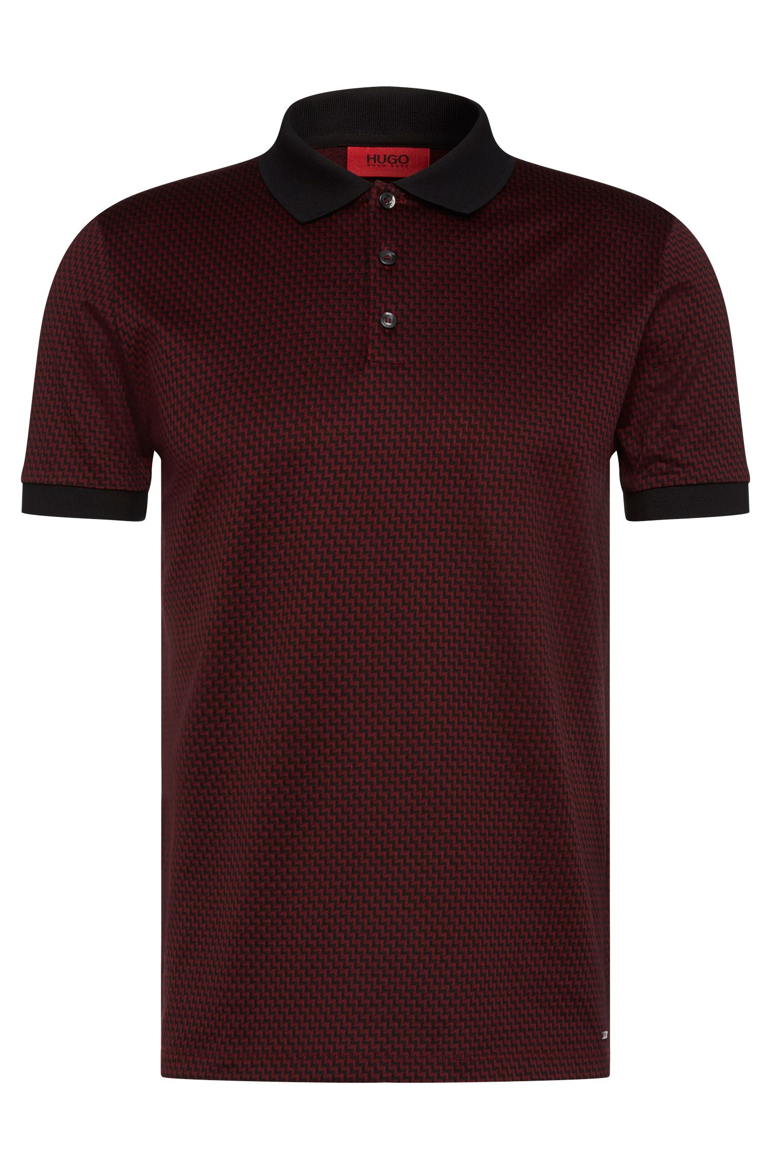 'Devron' | Regular Fit, Cotton Jacquard Polo Shirt