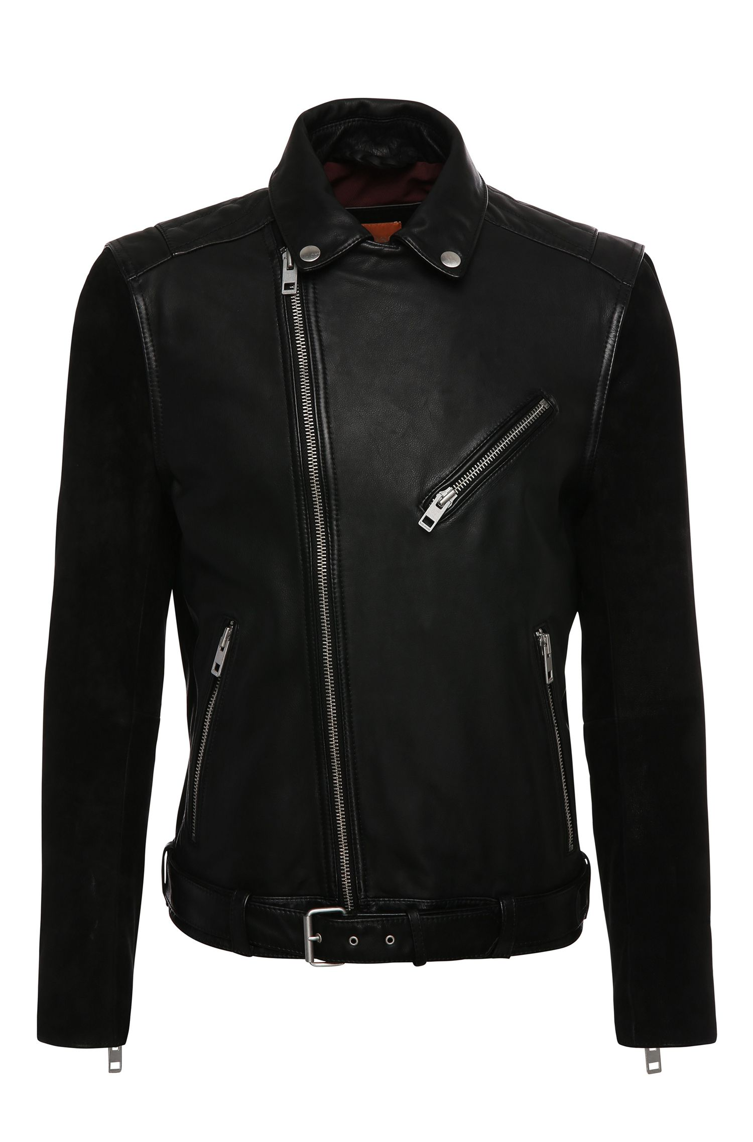 'Jetz' | Mixed Media Leather Biker Jacket