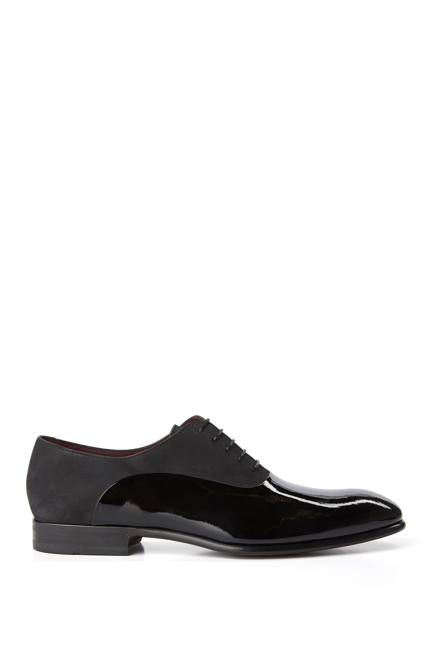 'T-Legend Oxfr Panu'   Italian Calfskin Nubuck Patent Oxford Dress Shoes