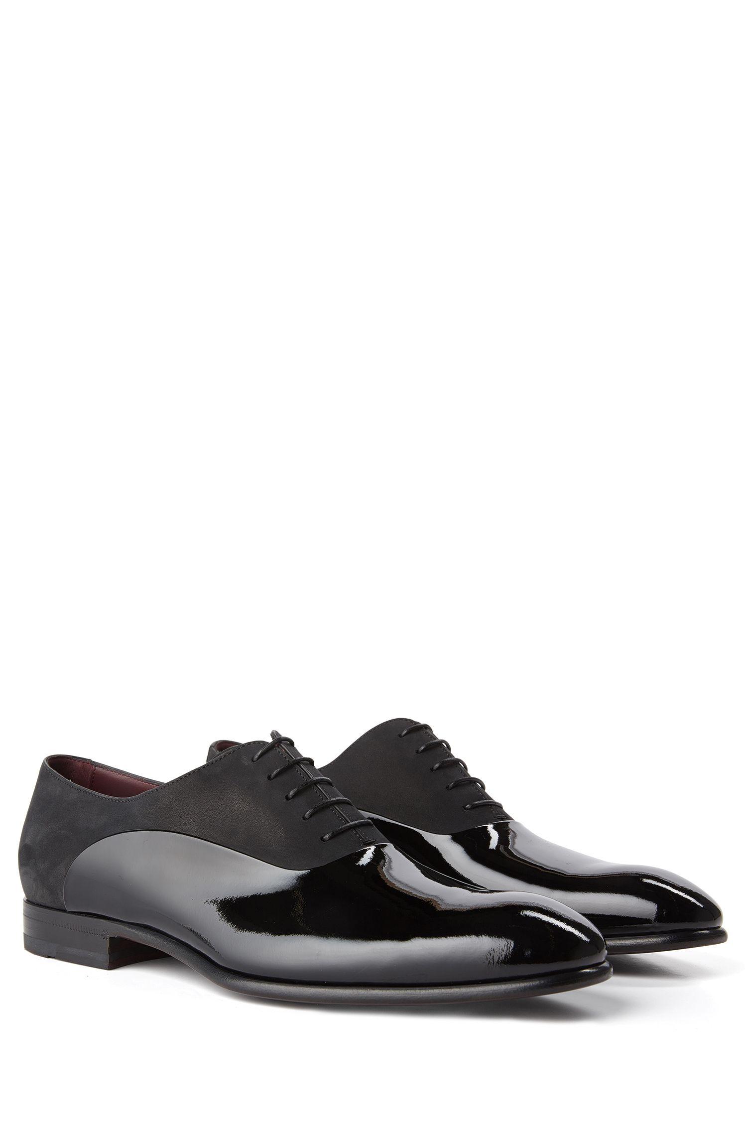 'T-Legend Oxfr Panu' | Italian Calfskin Nubuck Patent Oxford Dress Shoes