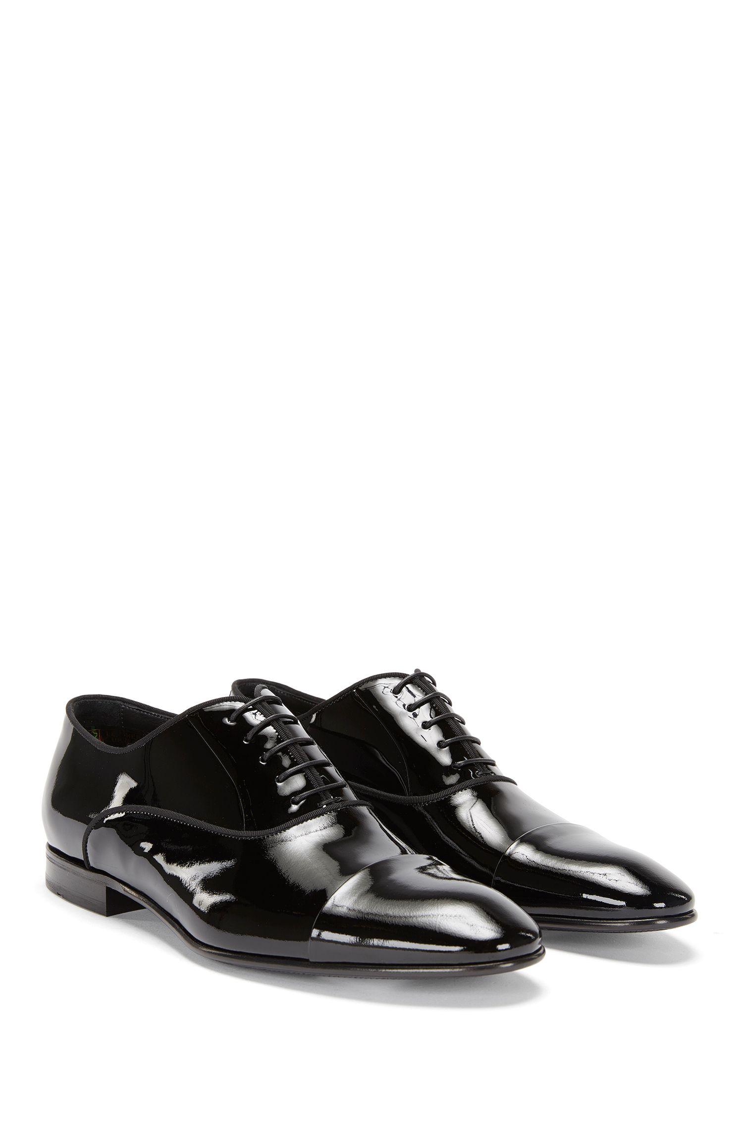 'Evening Oxfr Patct' | Italian Patent Calfskin Cap Toe Oxford Dress Shoes