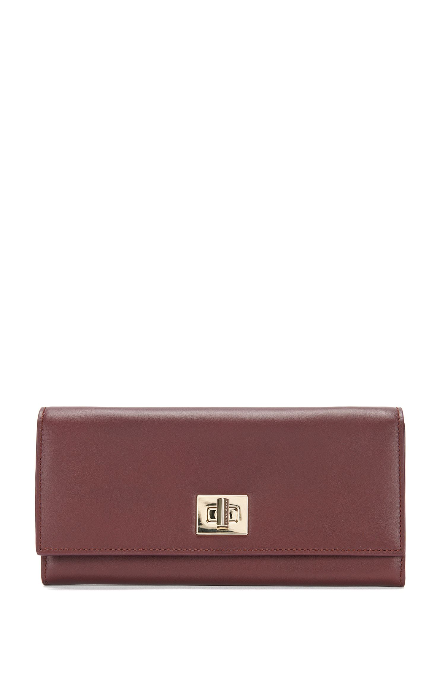 'Bespoke Cont-M' | Calfskin Clutch Wallet, Chain Strap