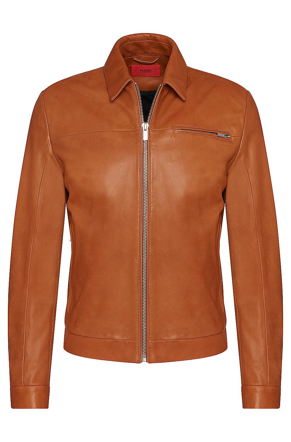 Mens leather gloves boss -  Latnik Lambskin Nappa Leather Jacket
