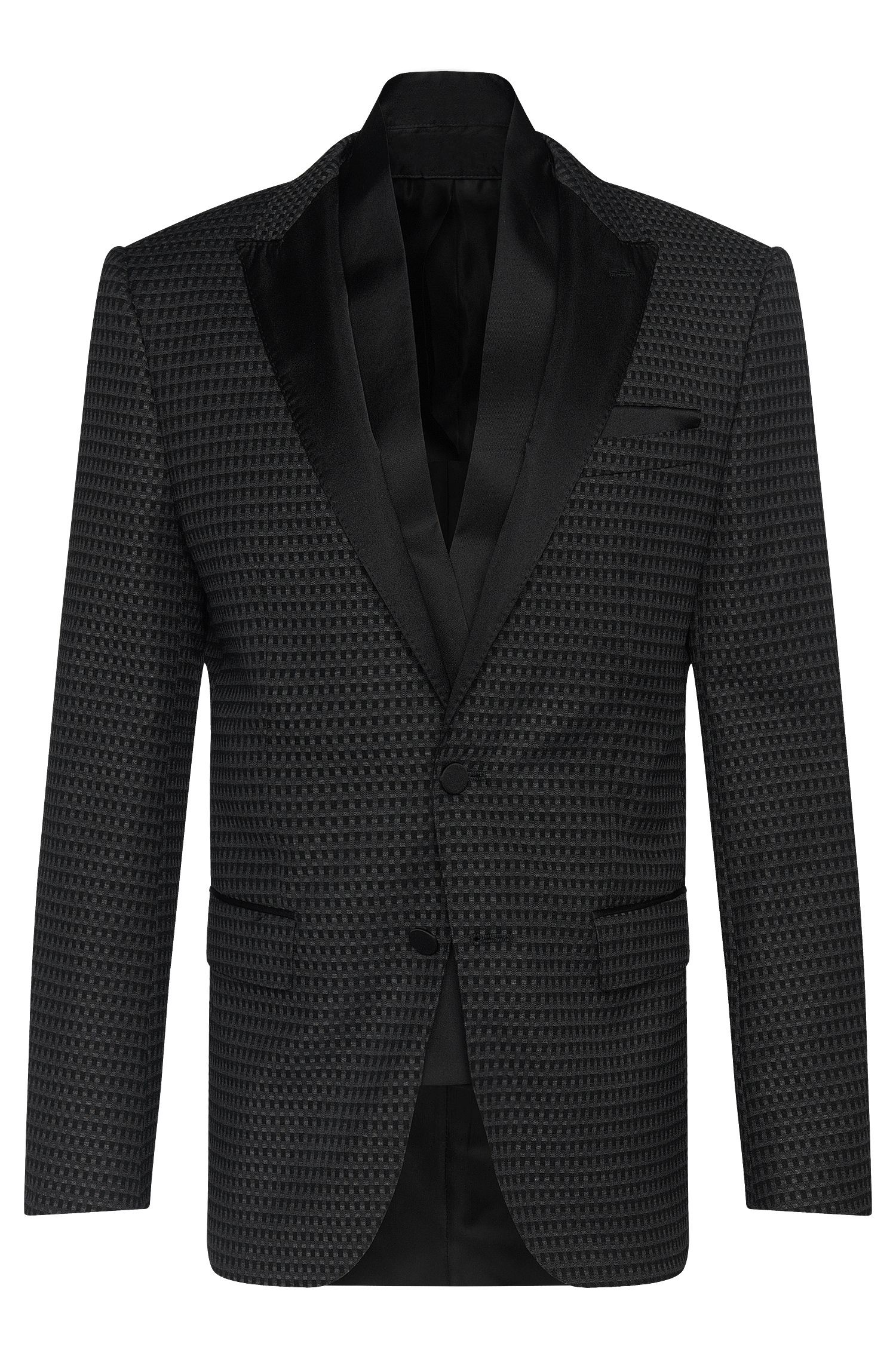 'Havit' | Slim Fit, Stretch Cotton Blend Dinner Jacket, Scarf