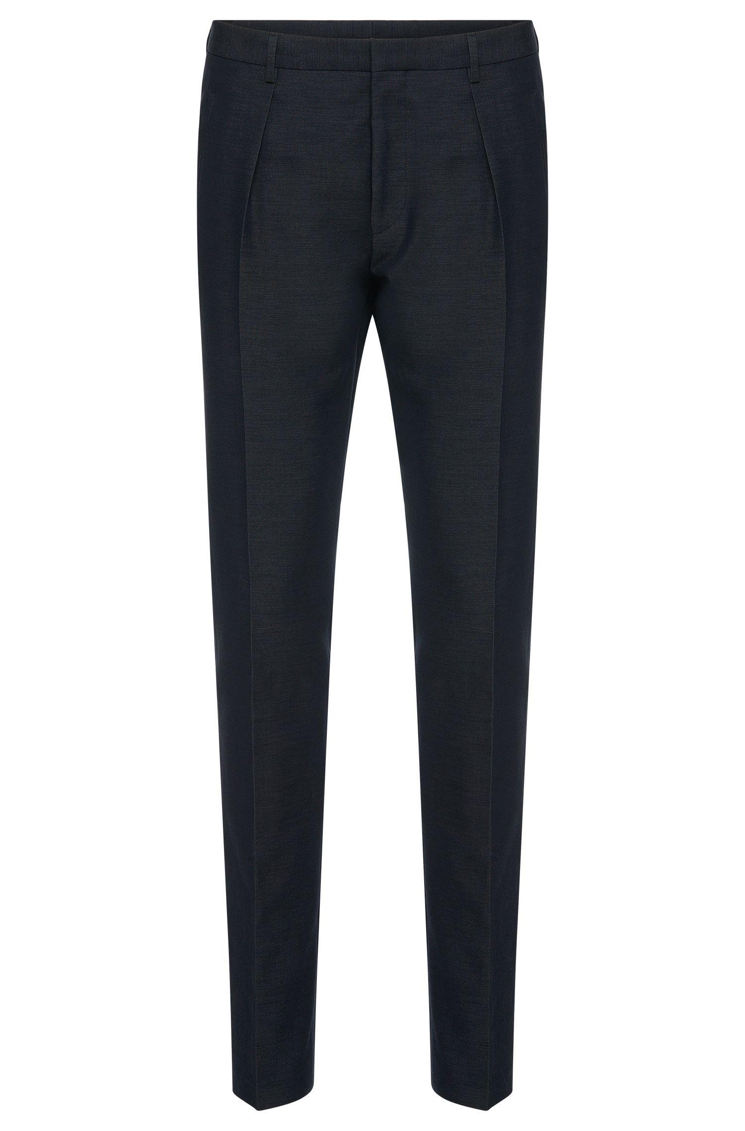 'Per' | Slim Fit, Cotton Silk Dress Pants