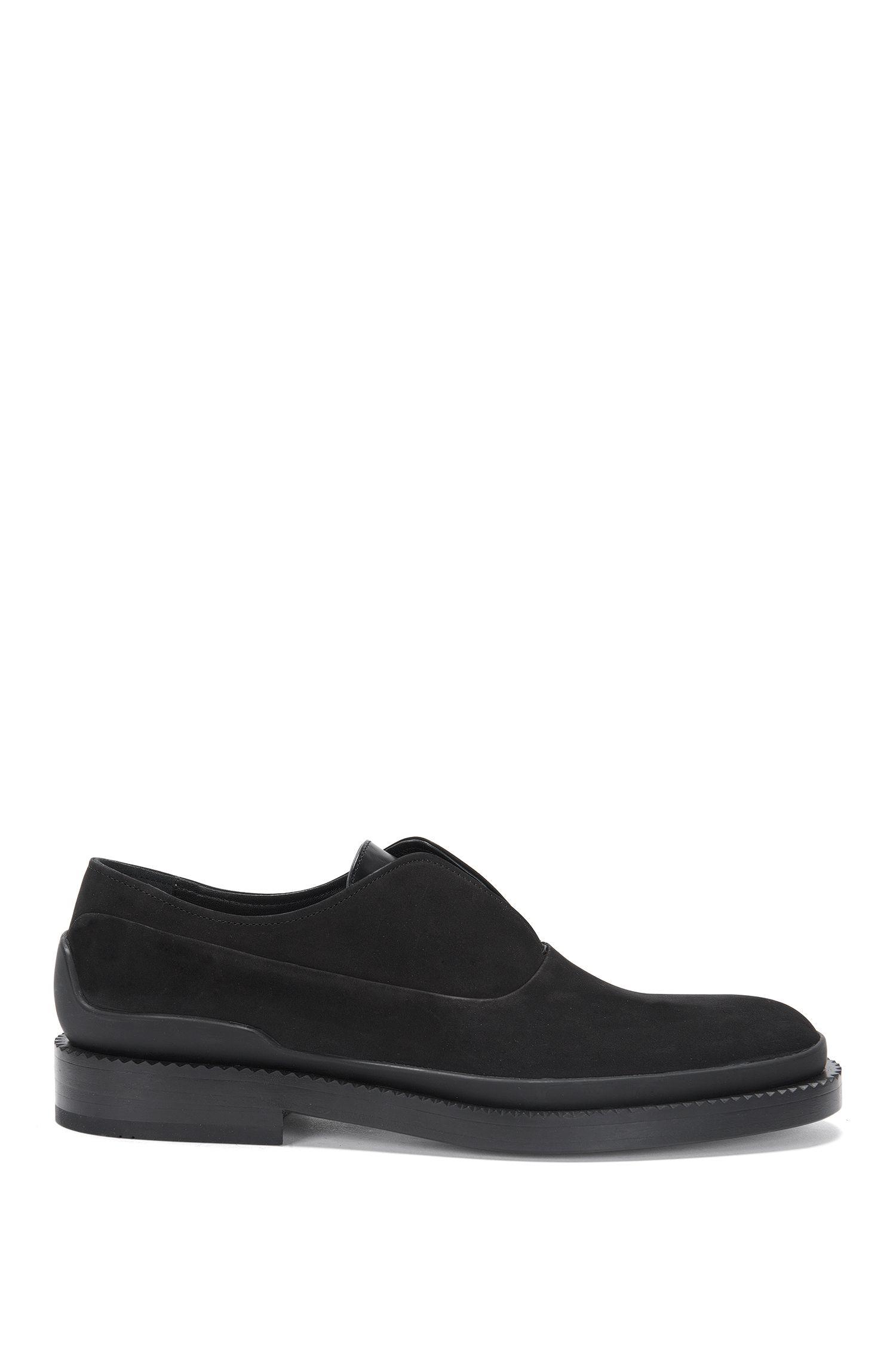 'Mono Oxfr Nu'   Nubuck Calfskin Loafers