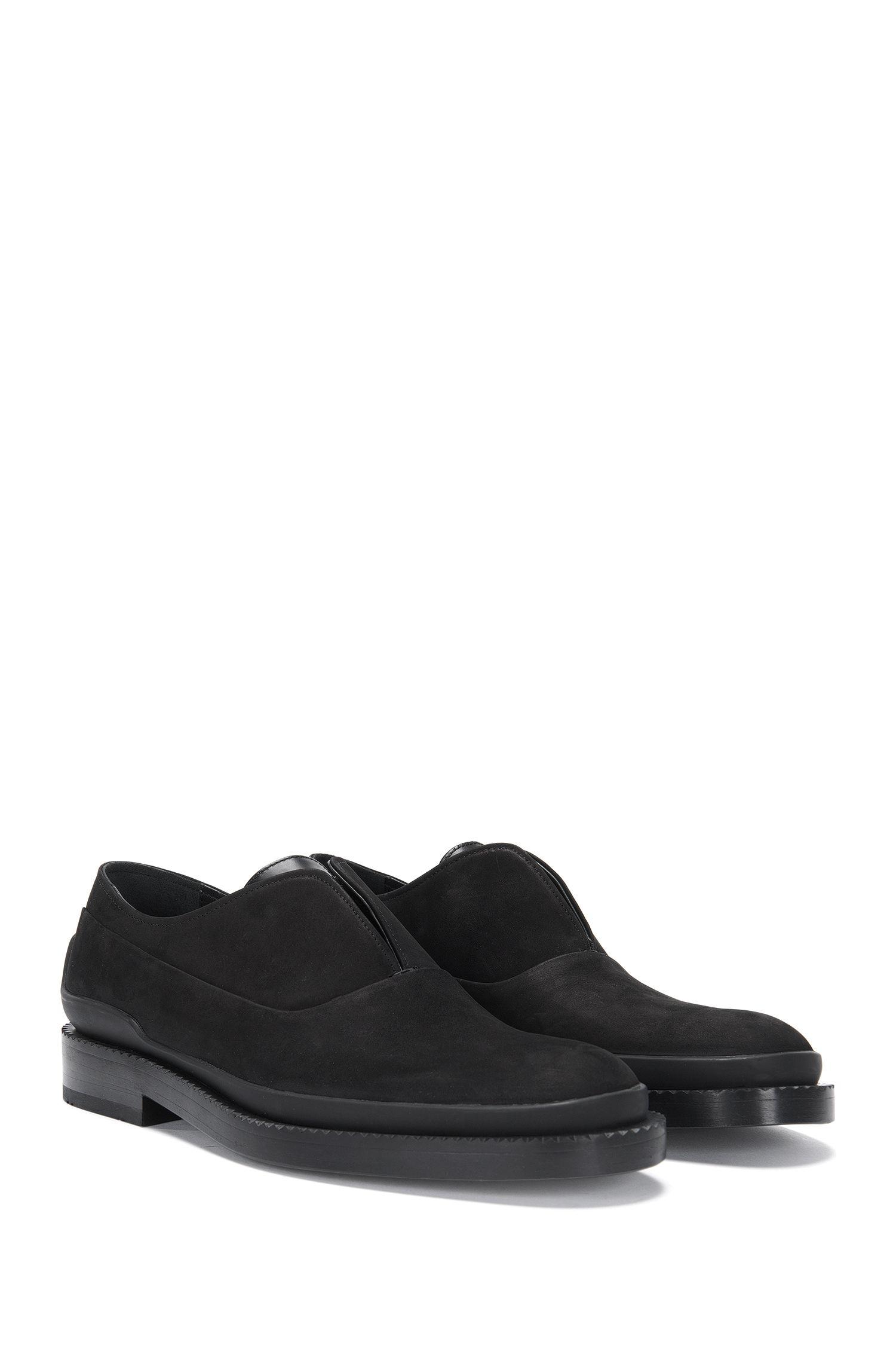 'Mono Oxfr Nu' | Nubuck Calfskin Loafers