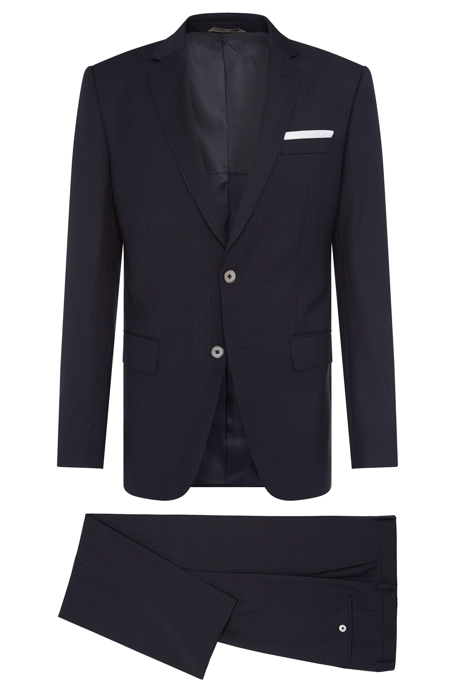 'Hutson/Gander' | Slim Fit, Super 110 Italian Virgin Wool Suit