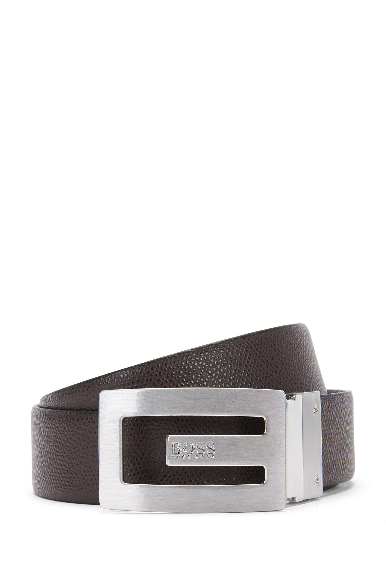 'Ranny Sr35 Itgr' | Reversible Grained Leather Belt