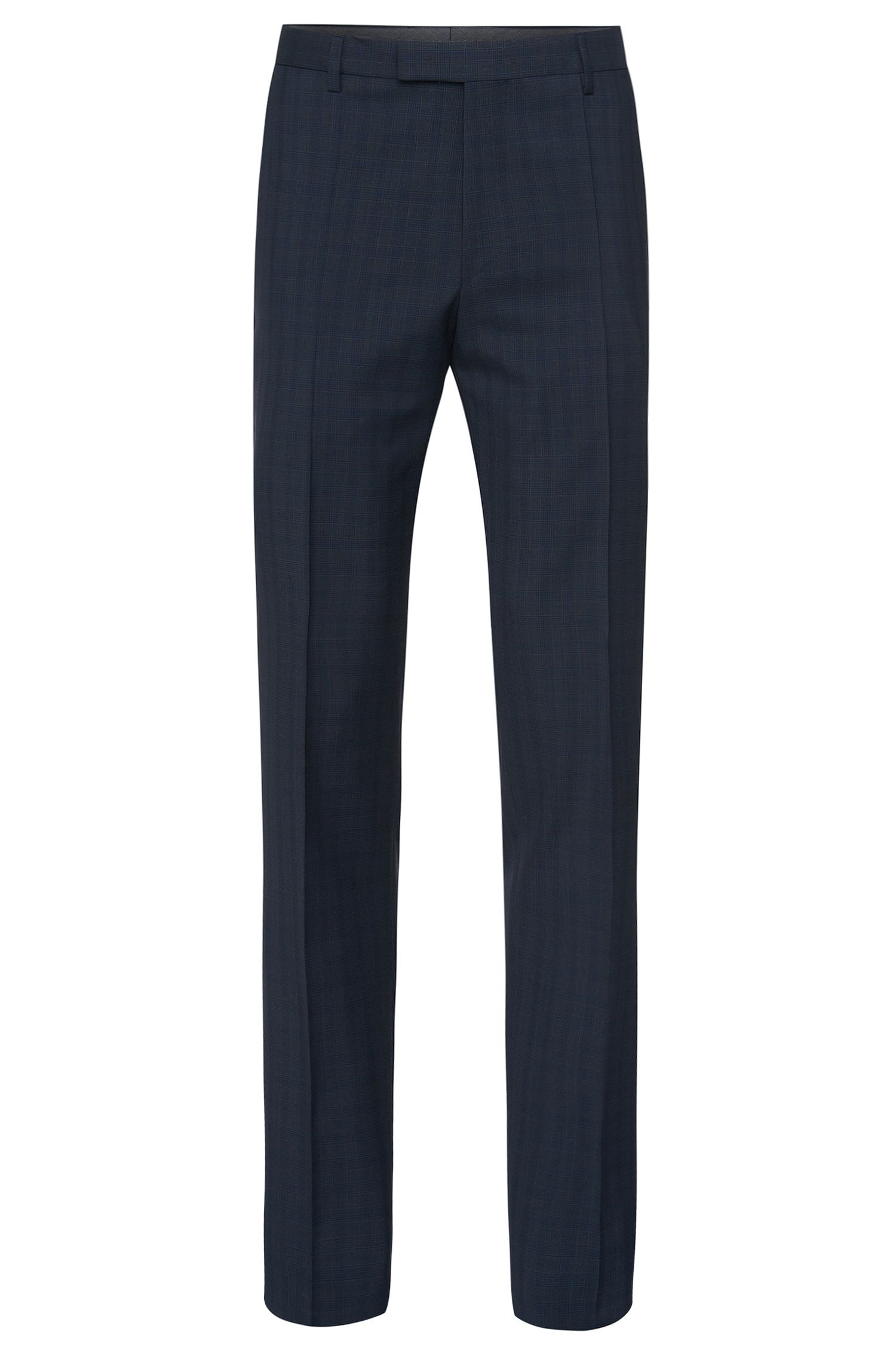 'Leenon' | Regular Fit, Italian Virgin Wool Plaid Dress Pants