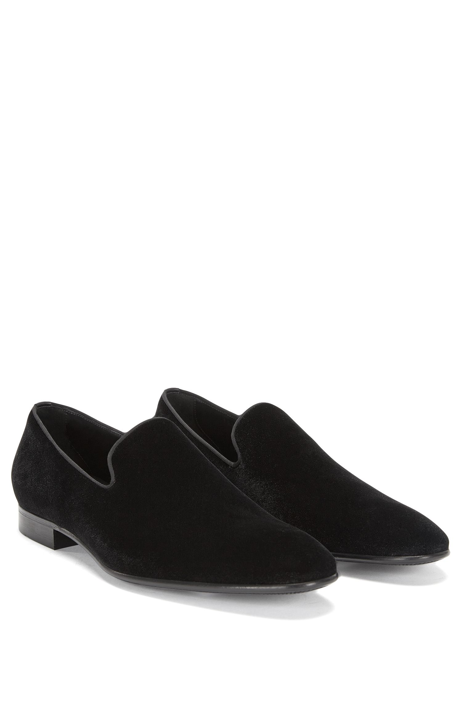 'Evening Loaf Vlt' | Cotton Blend Velvet Dress Loafers