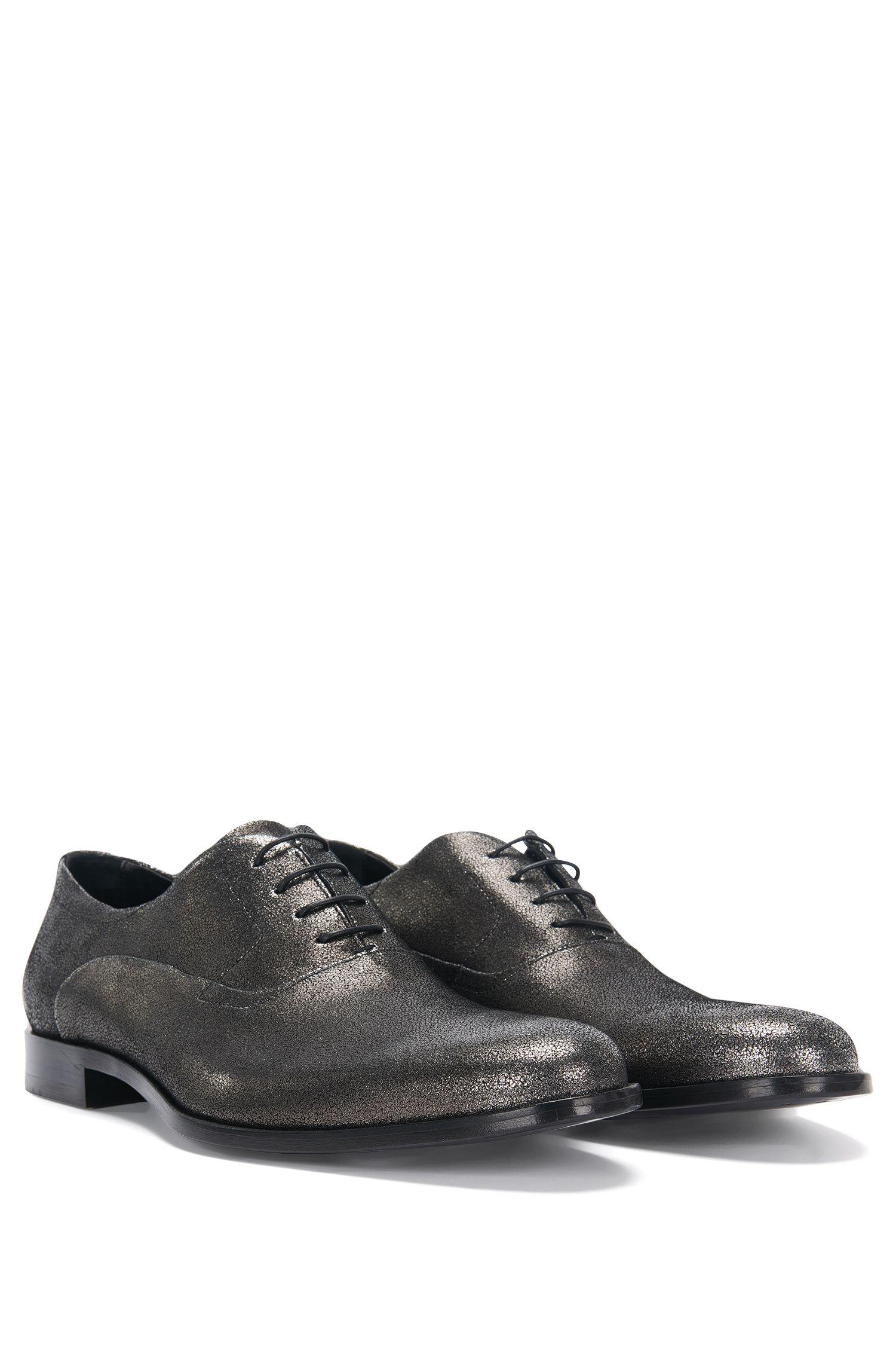 'Sigma Oxfr Sdgl' | Italian Calfskin Suede Metallic Oxford Shoes