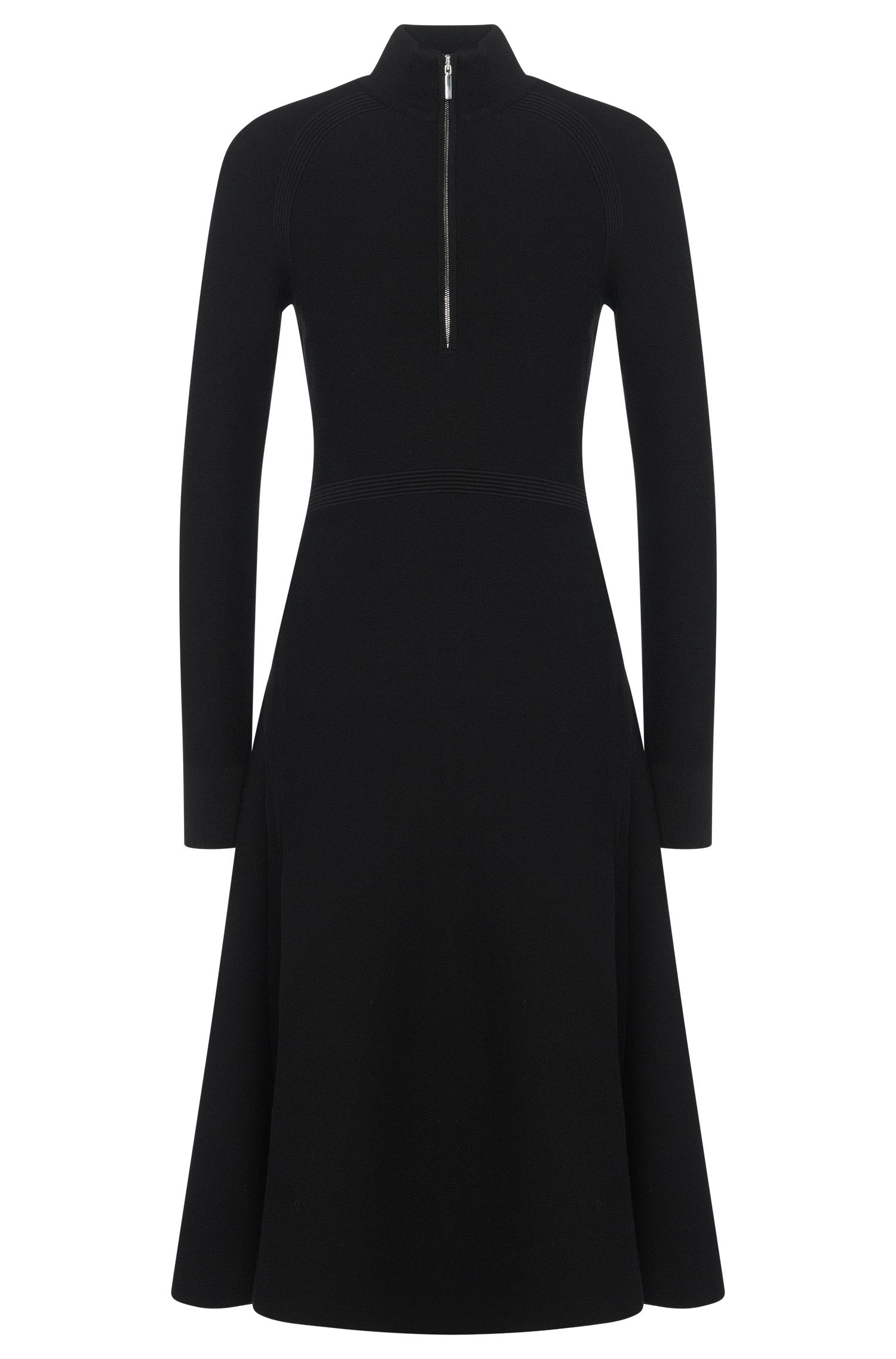 'FS_Finanes' | Viscose Blend A-Line Sweater Dress
