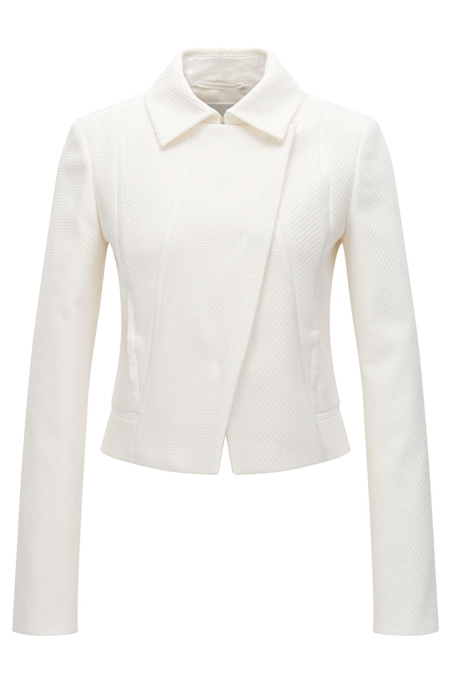 'Jabina' | Stretch Cotton Blend Textured Jacket