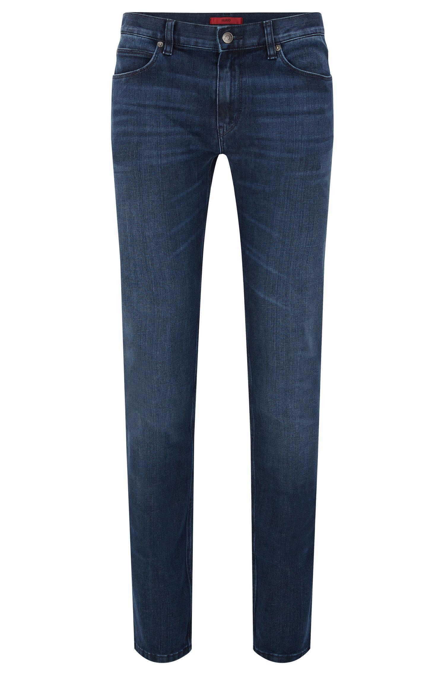 'HUGO 708' | Slim Fit, 12 oz Stretch Cotton Blend Jeans