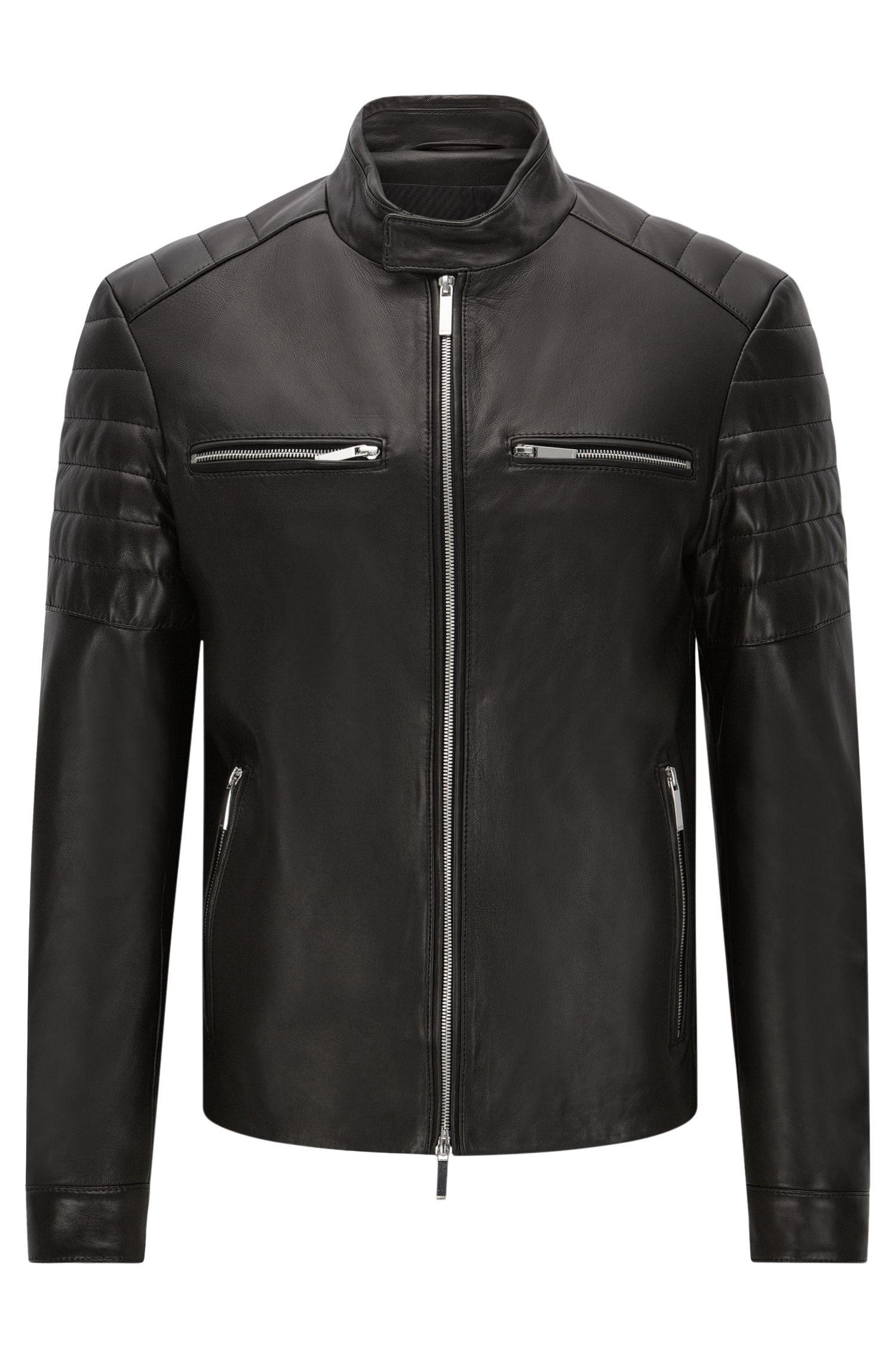 'Norvyn' | Mercedes-Benz Lambskin Biker Jacket