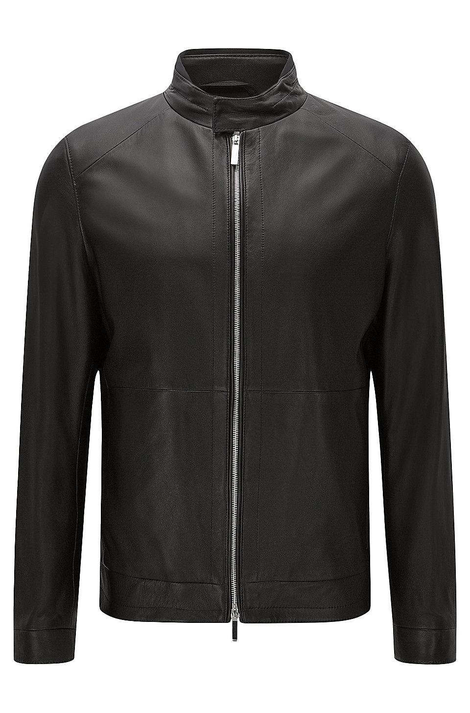 Hugo boss ladies leather gloves -  Nartimo Lambskin Biker Jacket