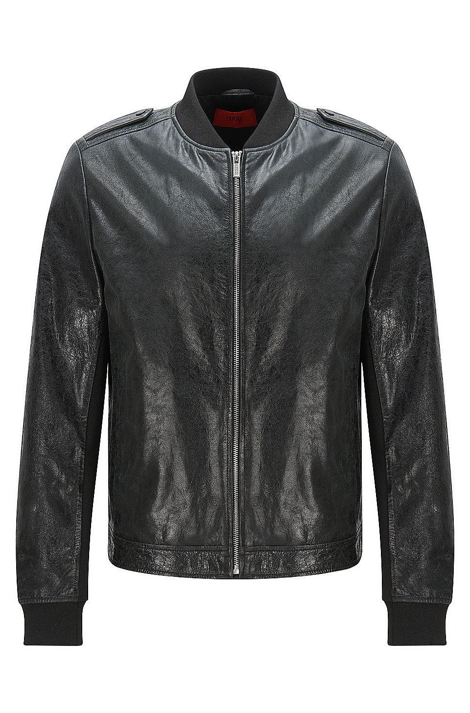 Hugo boss ladies leather gloves -  Lessko Lambskin Leather Jacket