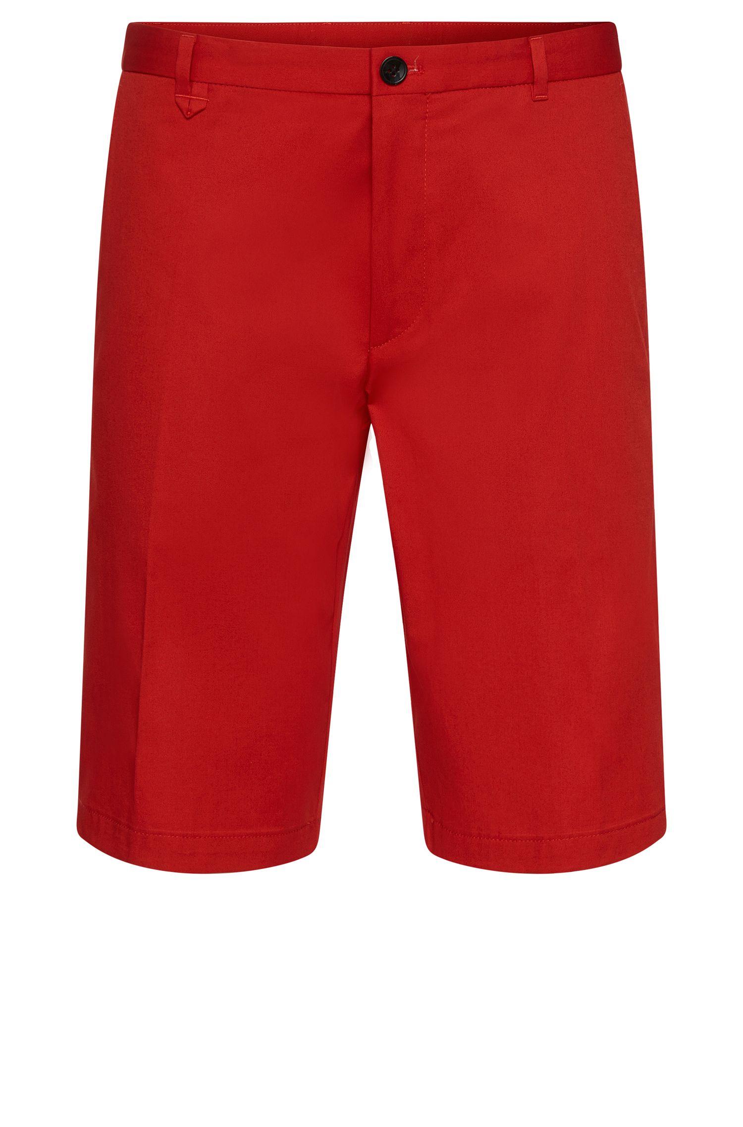 'Hano'   Slim Fit, Stretch Cotton Shorts