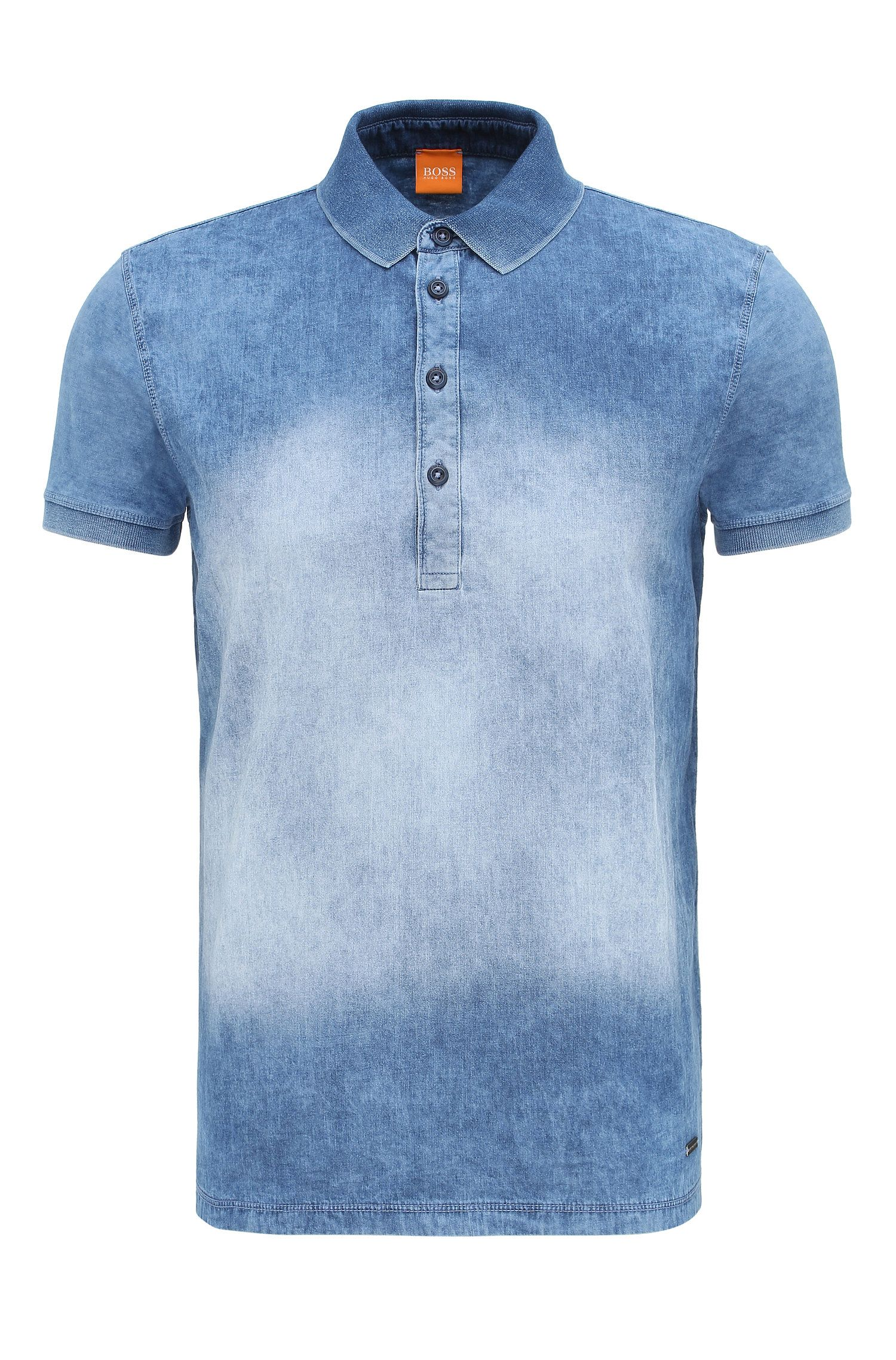 'Pretty' | Relaxed Fit, Cotton Stone Washed Polo Shirt