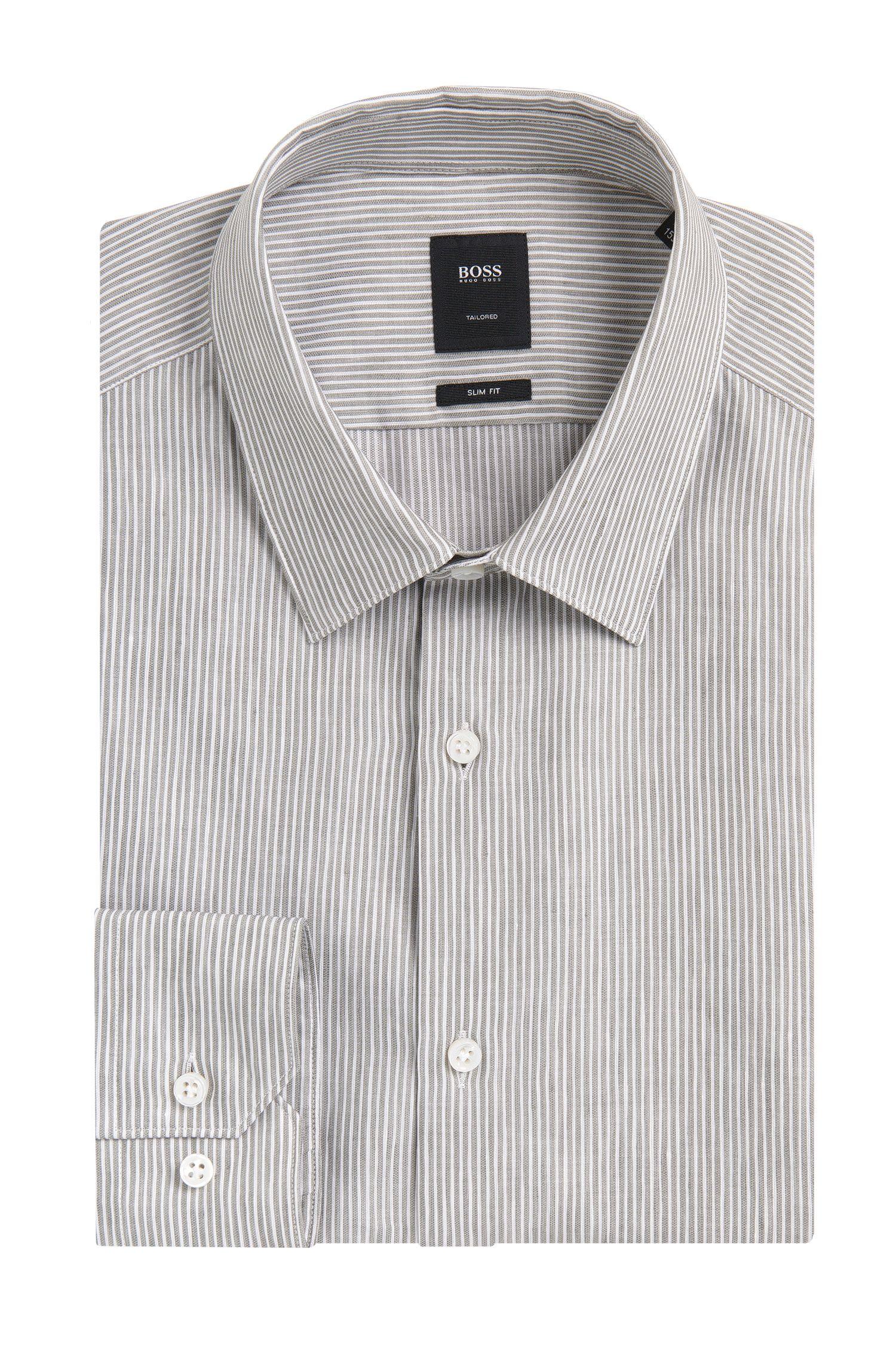 'T-Clint'   Slim Fit, Italian Linen Cotton Dress Shirt