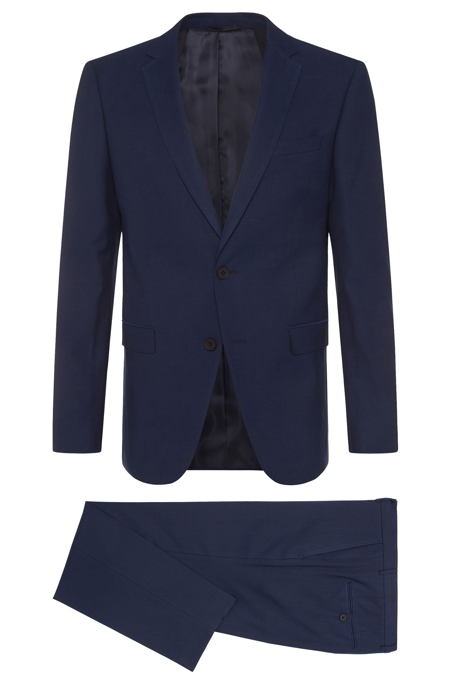 'Nestro/Byte' | Slim Fit, Stretch Wool Cotton Blend Travel Suit