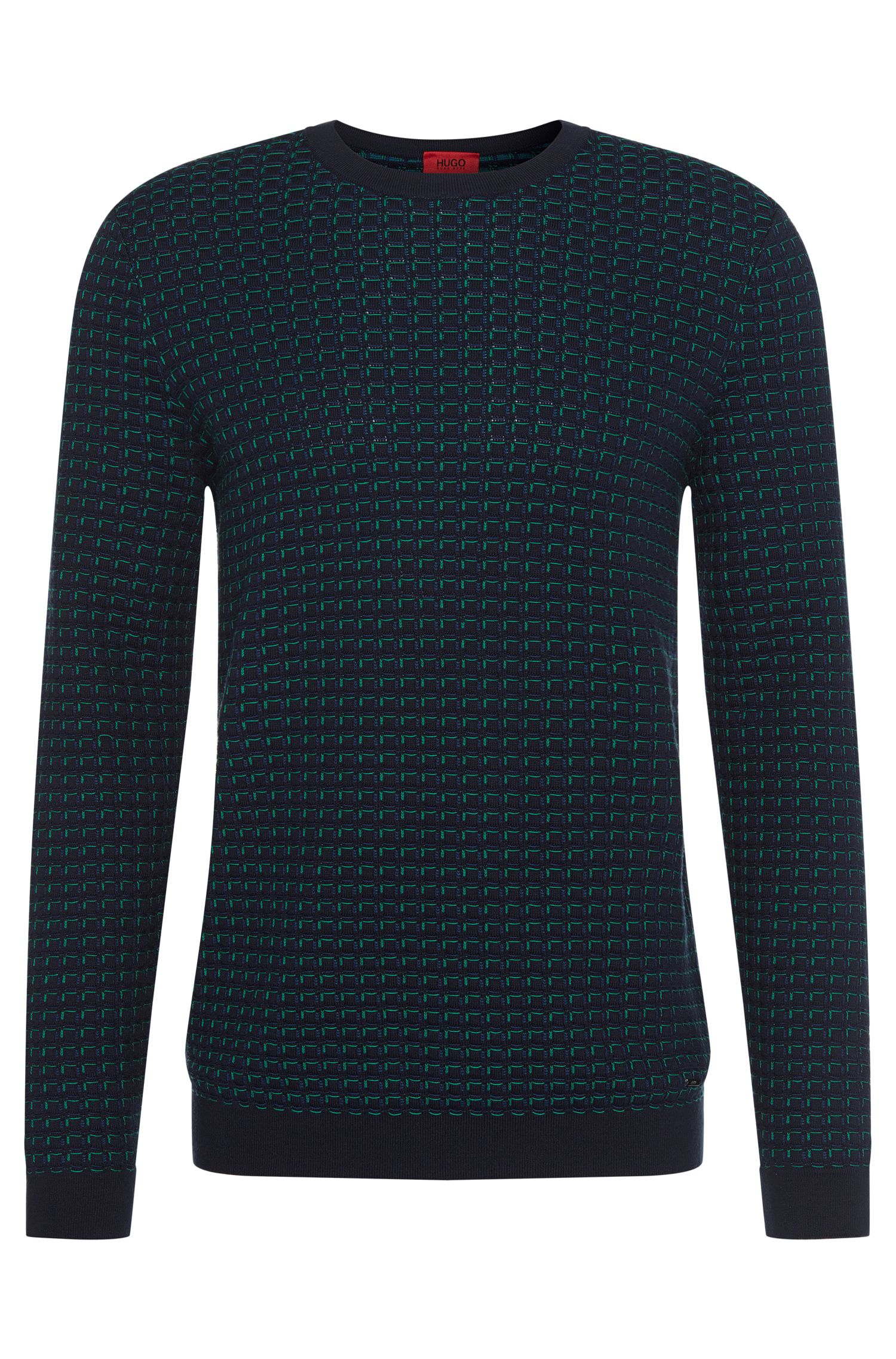 'Srid'   Cotton Patterned Sweater