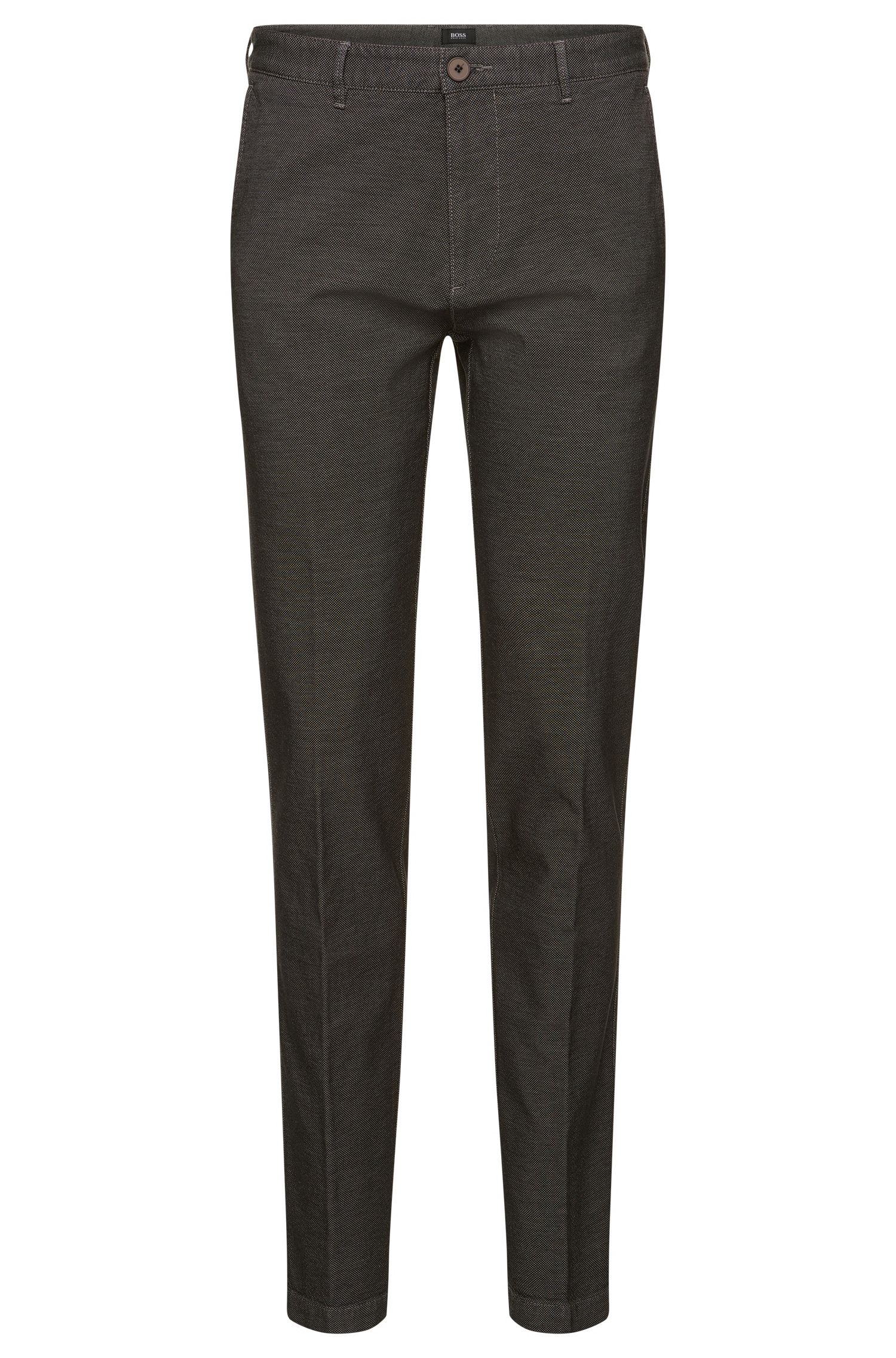 Crigan-W' | Regular Fit, Stretch Cotton Trousers