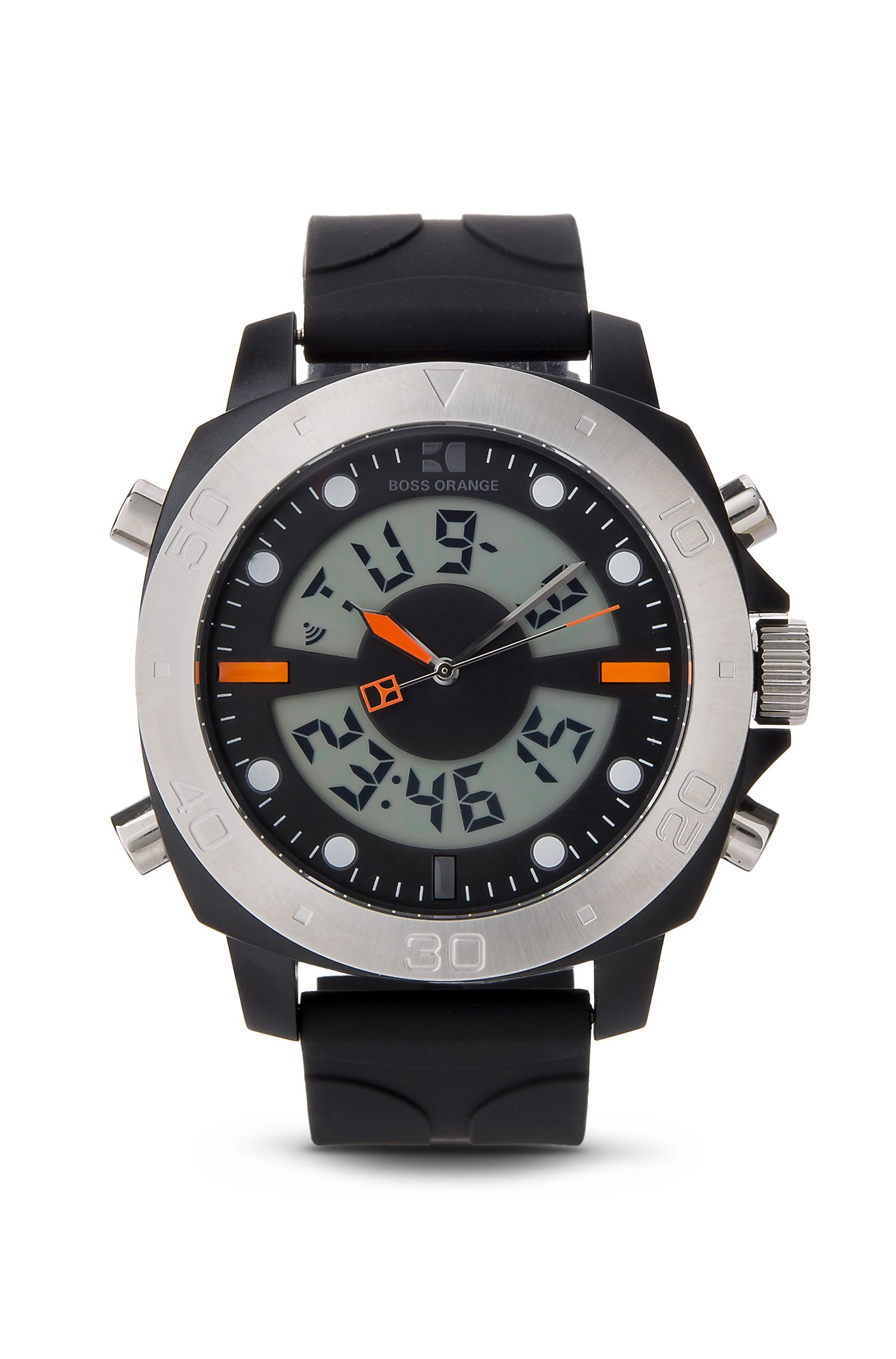 '1512678' | Analog Digital Silicone Strap Sporty Diver Watch