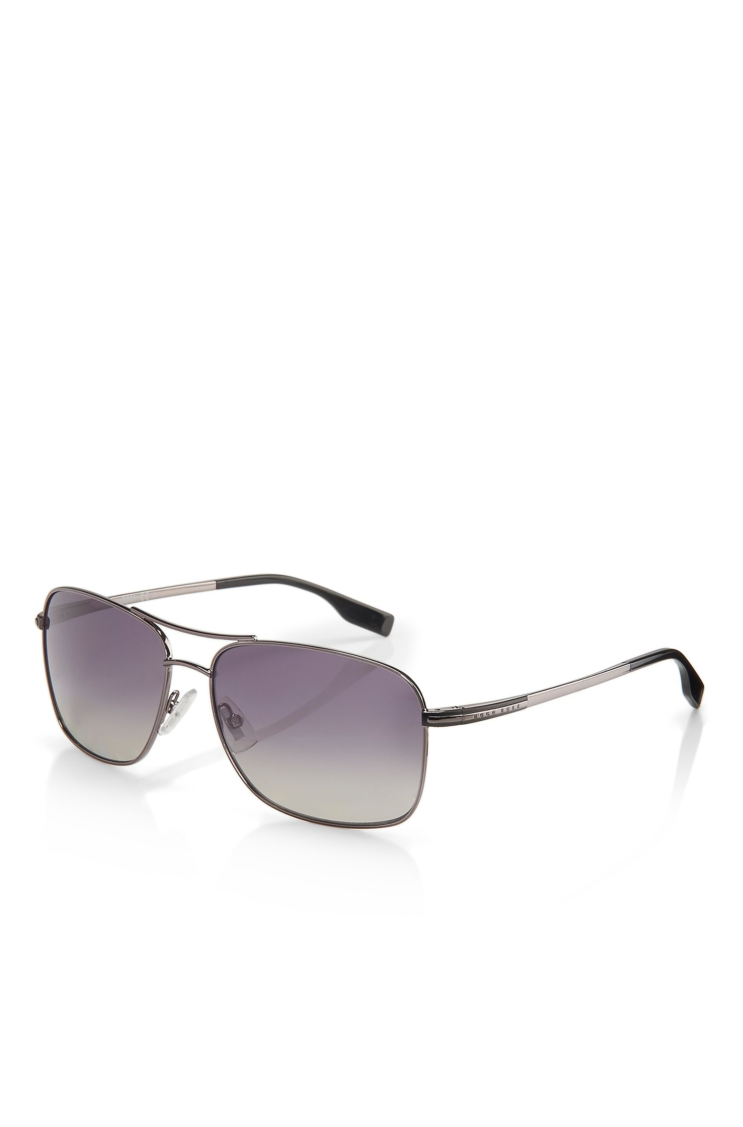BOSS 0664S'   Oversized Wood Detail Sunglasses