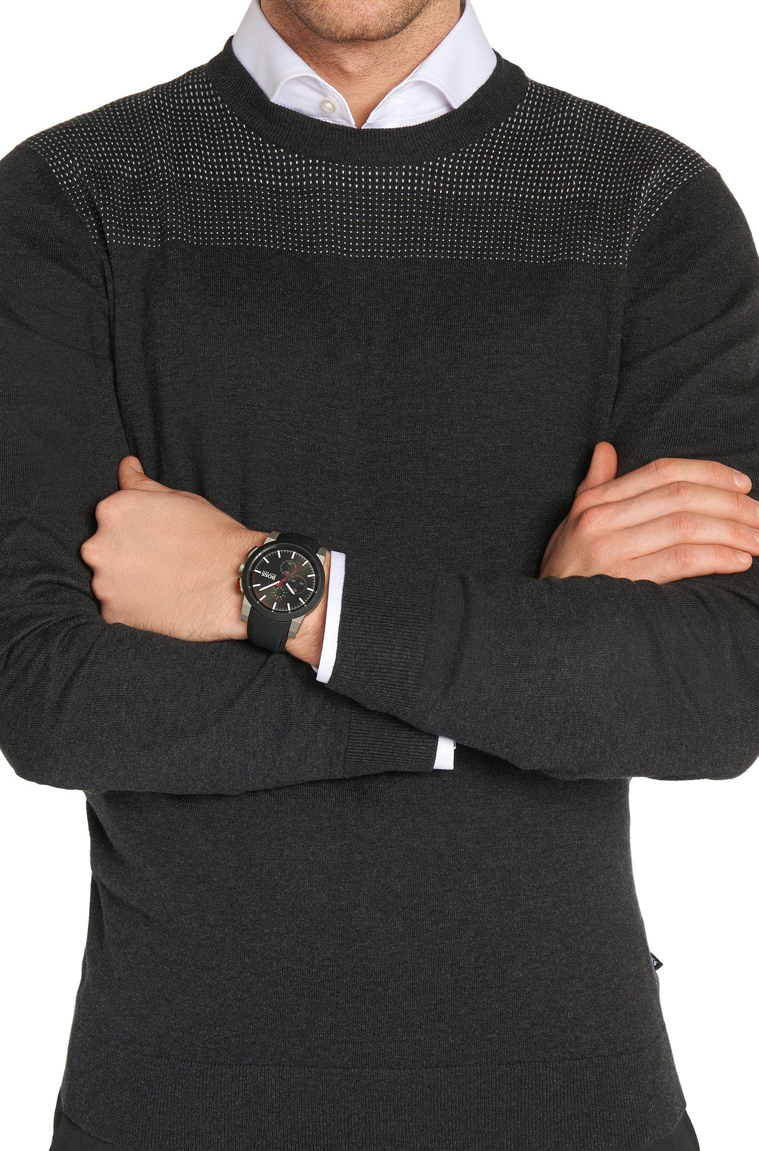 '1512979' | Chronograph Black Nylon Canvas Strap Watch