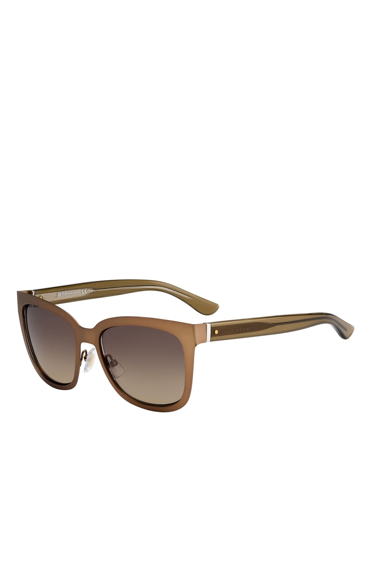 'BOSS 676S' | Brown Gradient Lens Rectangular Sunglasses