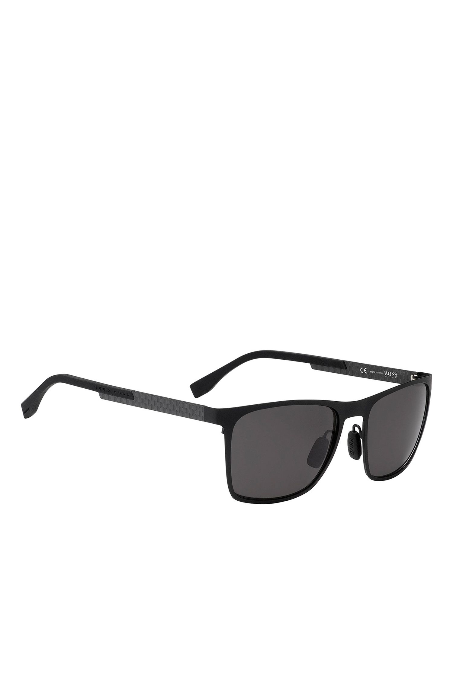 'BOSS 0732S' | Gray Lens Rectangular Sunglasses