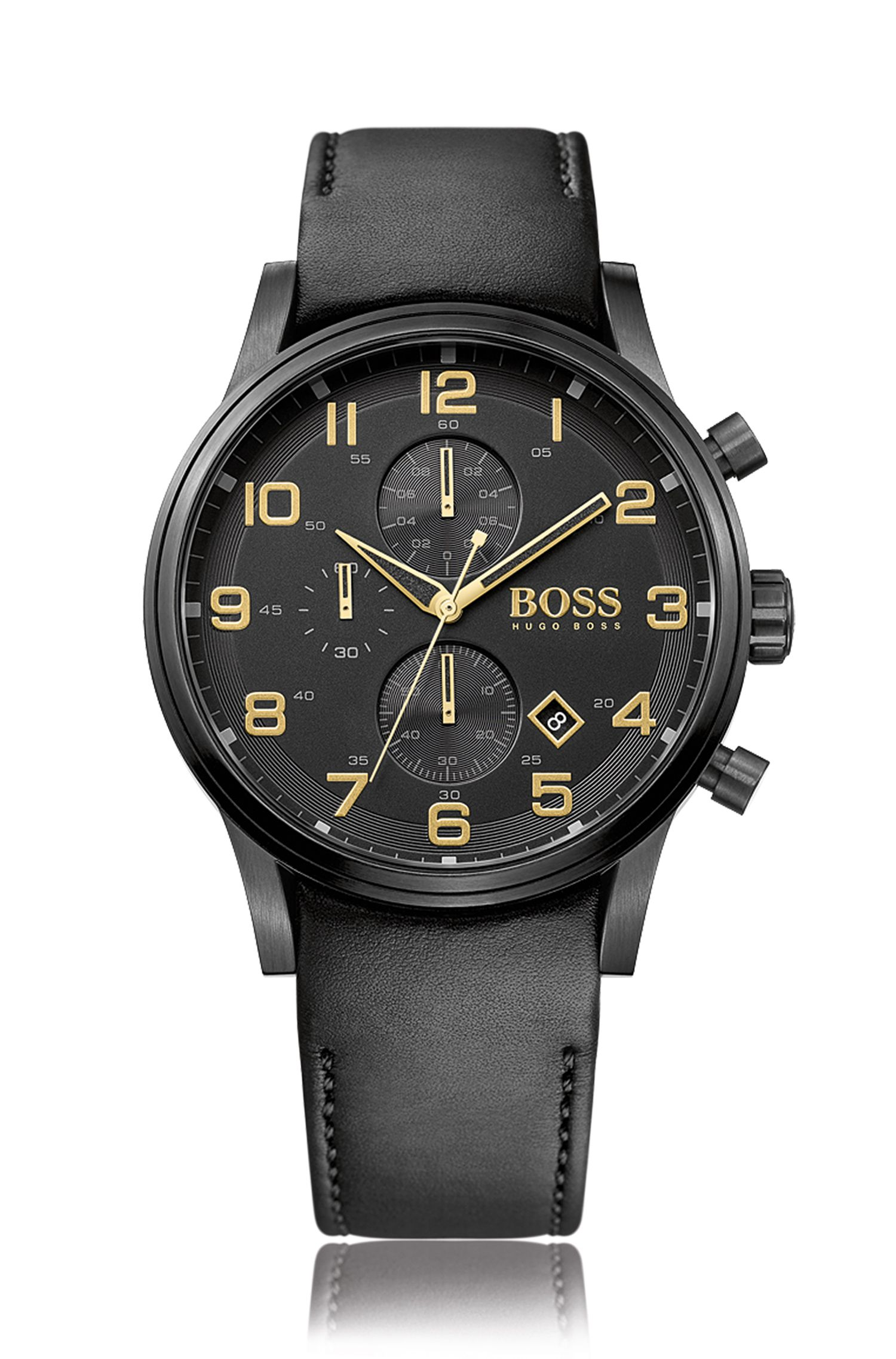 '1513274' | Stainless Steel Leather Chronograph Watch