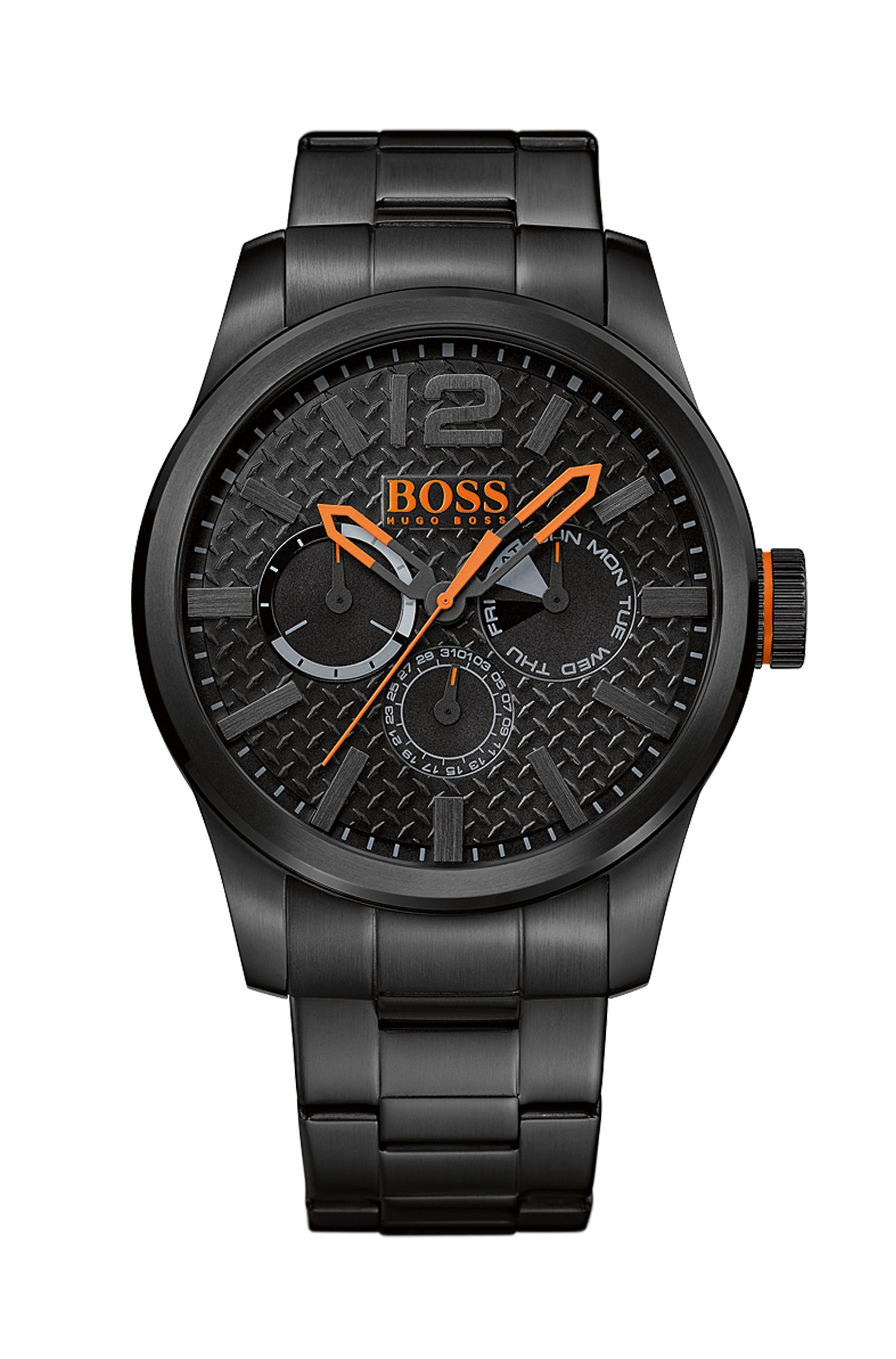 '1513239' | Chronograph Black IP Strap Watch
