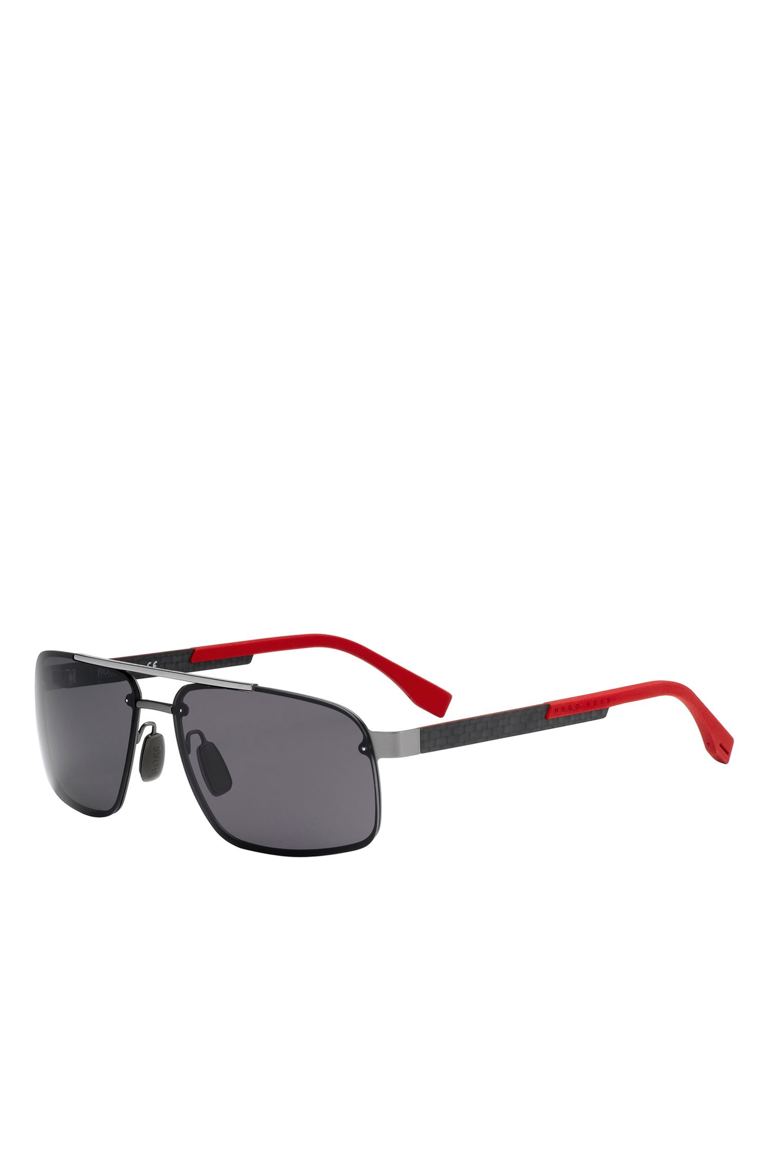 'BOSS 0773' | Polar Gray Lens Navigator Sunglasses