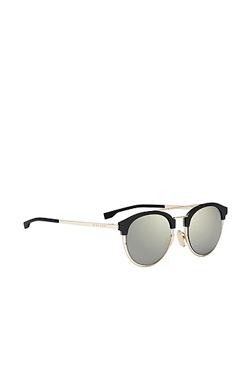 'BOSS 0784S' | Grey Bronze Lens Clubmaster Sunglasses, Assorted-Pre-Pack