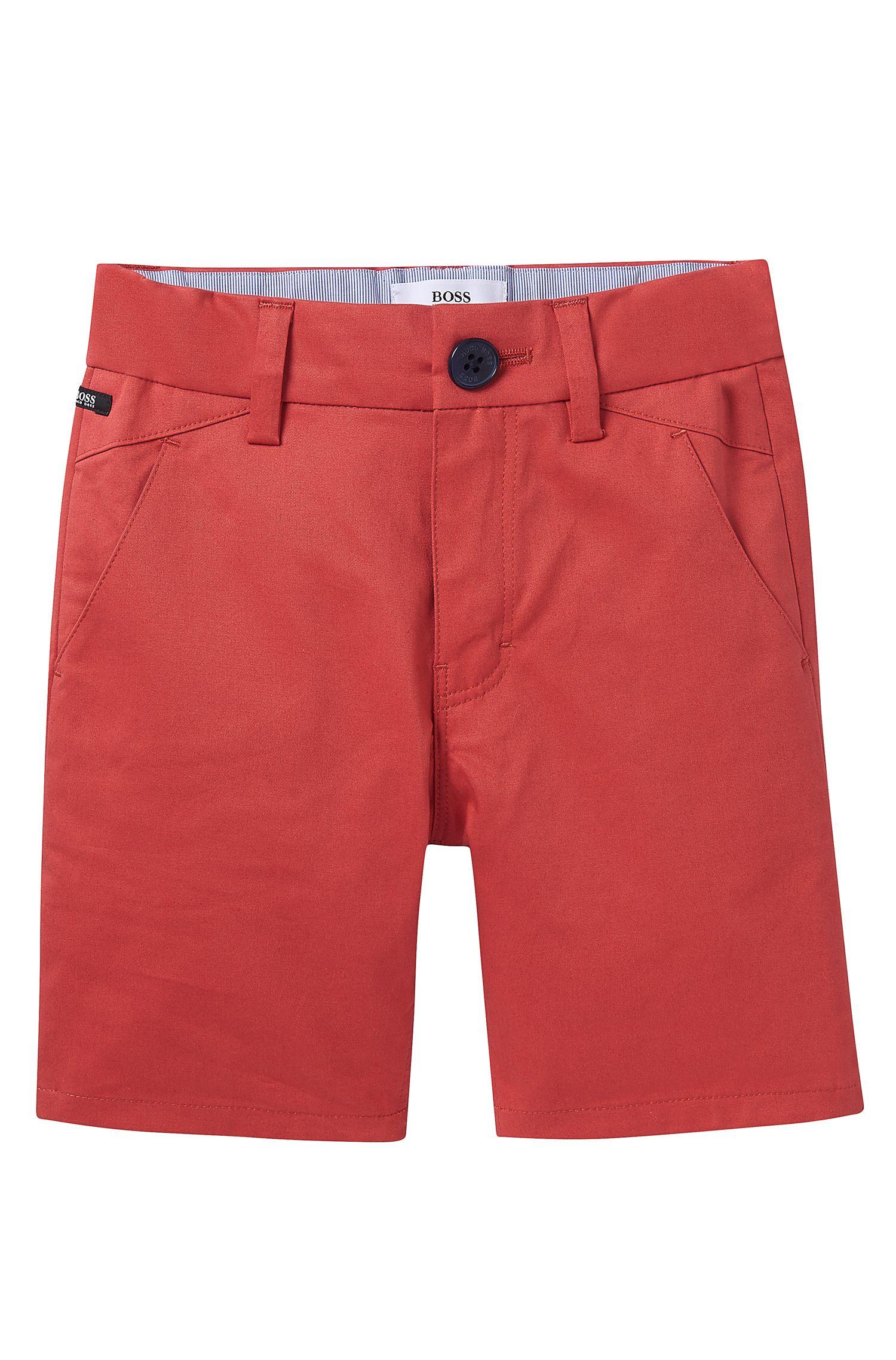 'J04221' | Toddler Cotton Satin Weave Shorts