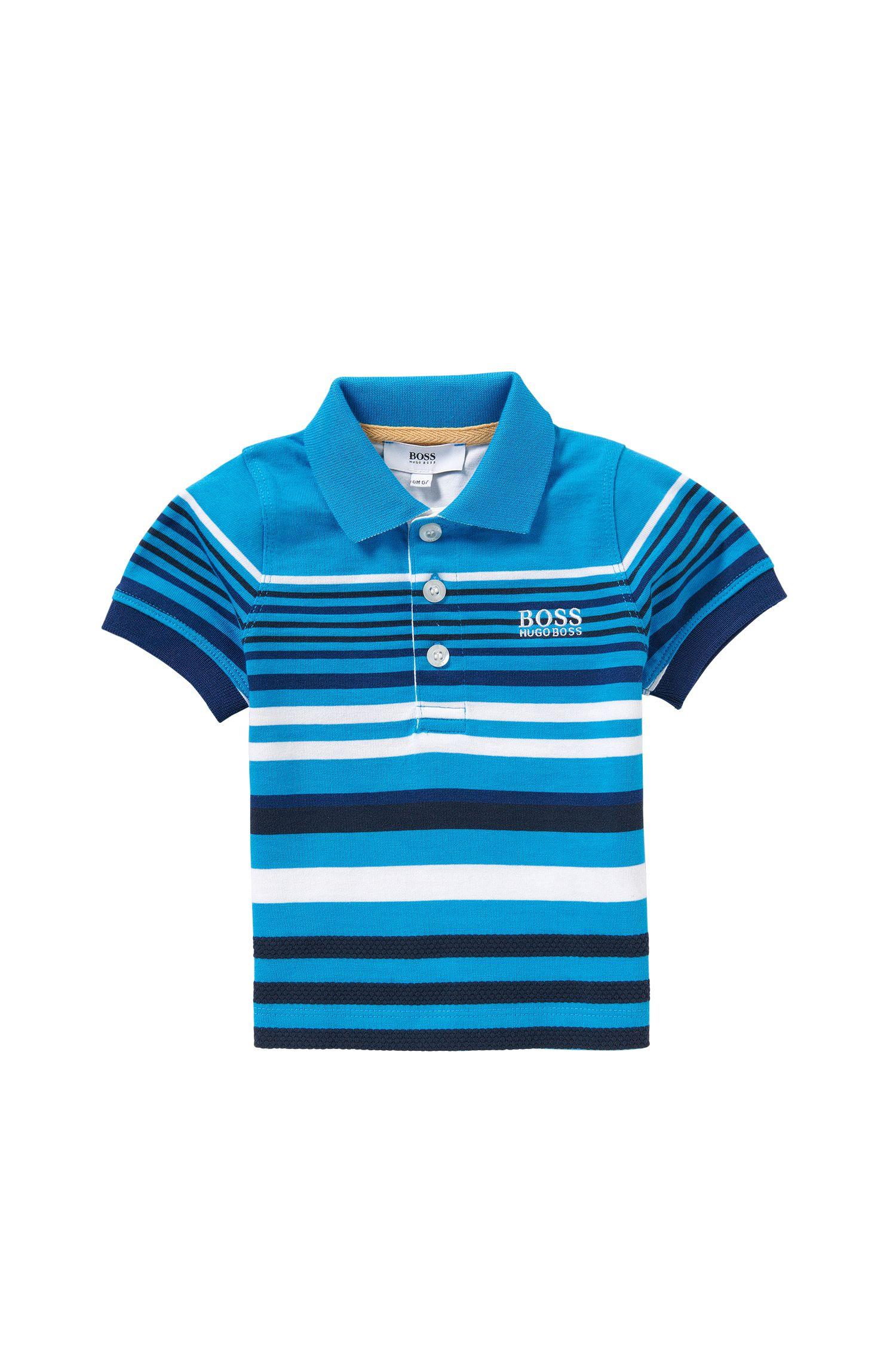 'J05444' | Toddler Stretch Cotton Striped Polo Shirt