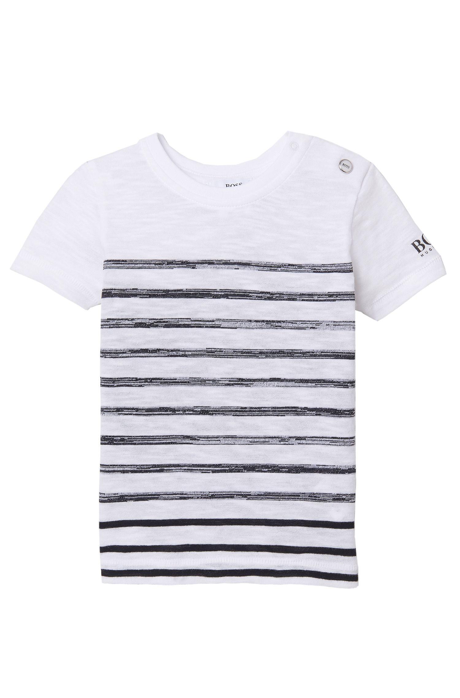 'J05460' | Toddler Cotton Striped Slub T-Shirt