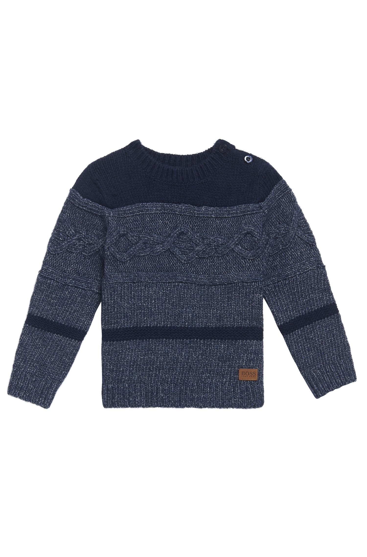 'J05516' | Toddler Stretch Cotton Blend Patterned Sweater