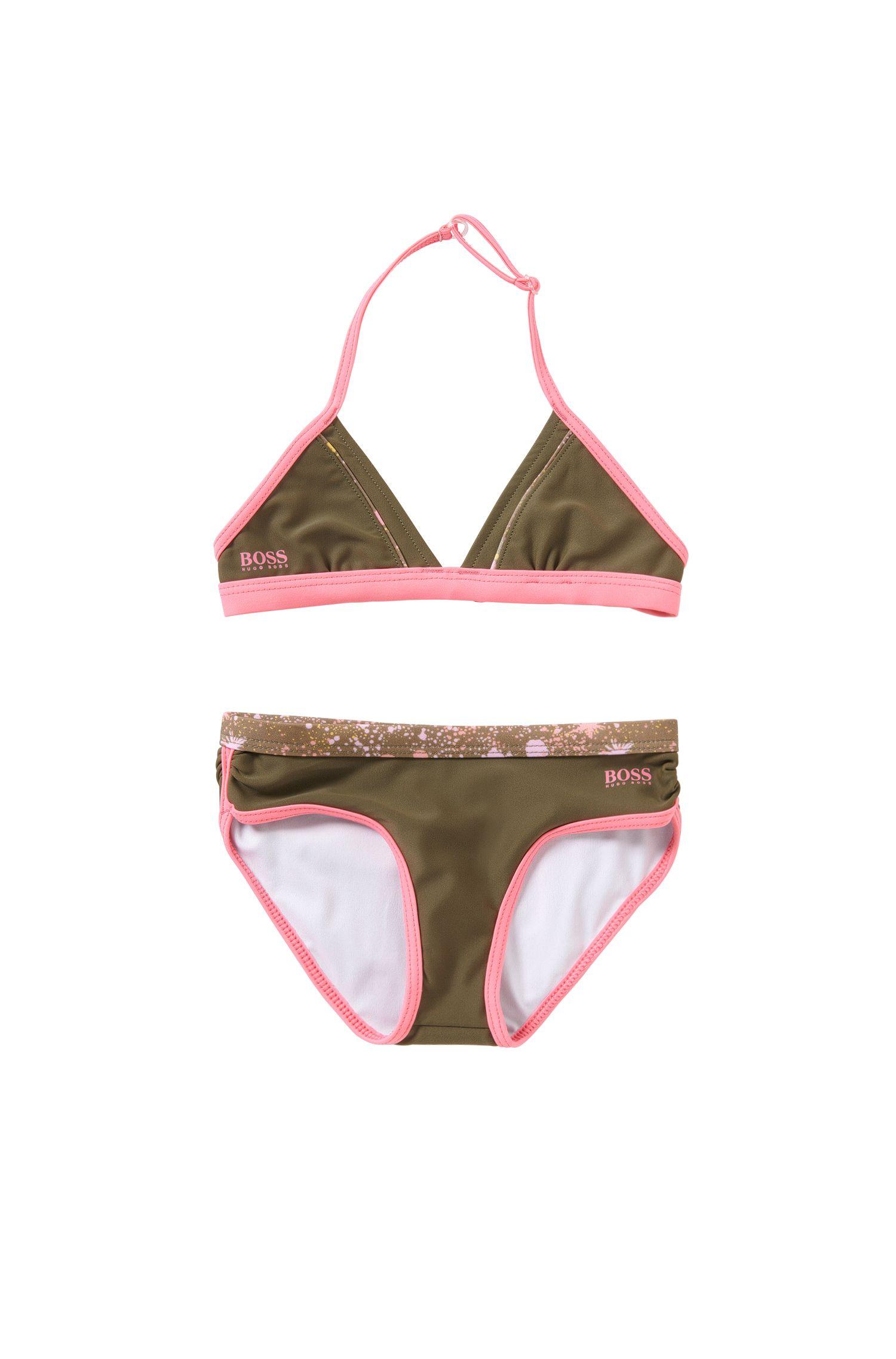 'J10096' |  Girls Stretch Cotton 2-Piece Bathing Suit