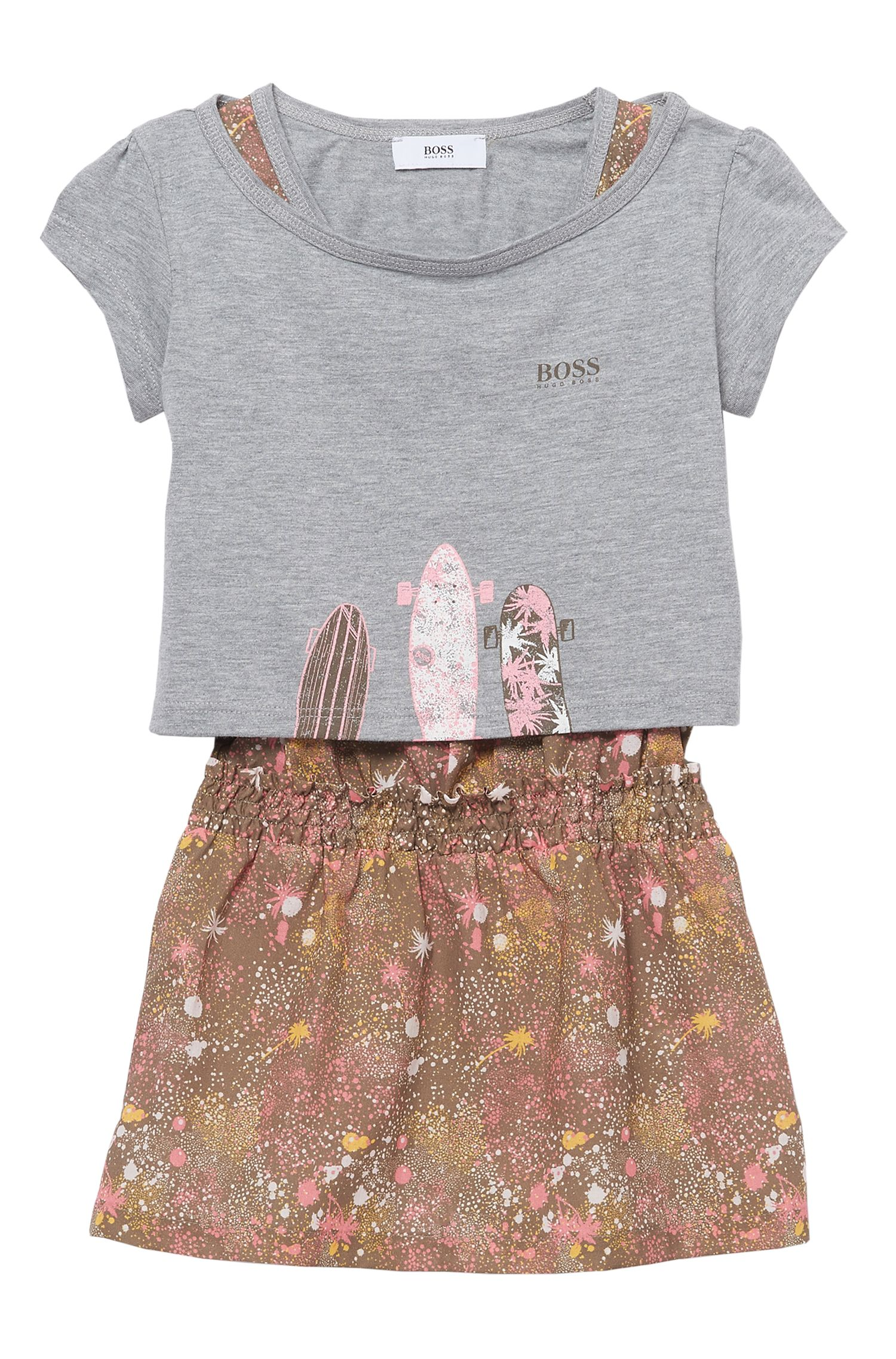 'J18101' | Cotton T-Shirt, Dress Set