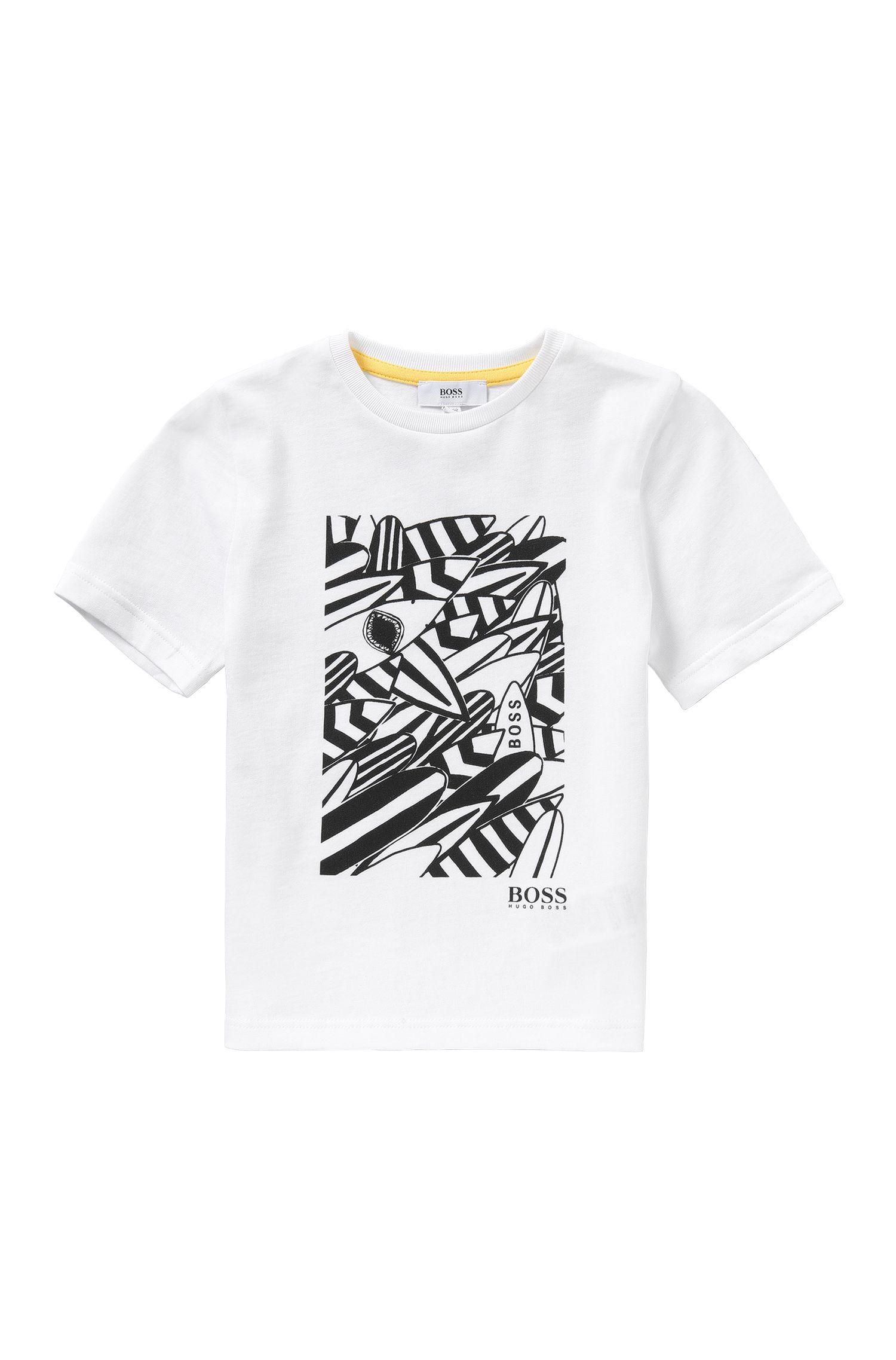 'J25939' | Boys Cotton Printed T-Shirt