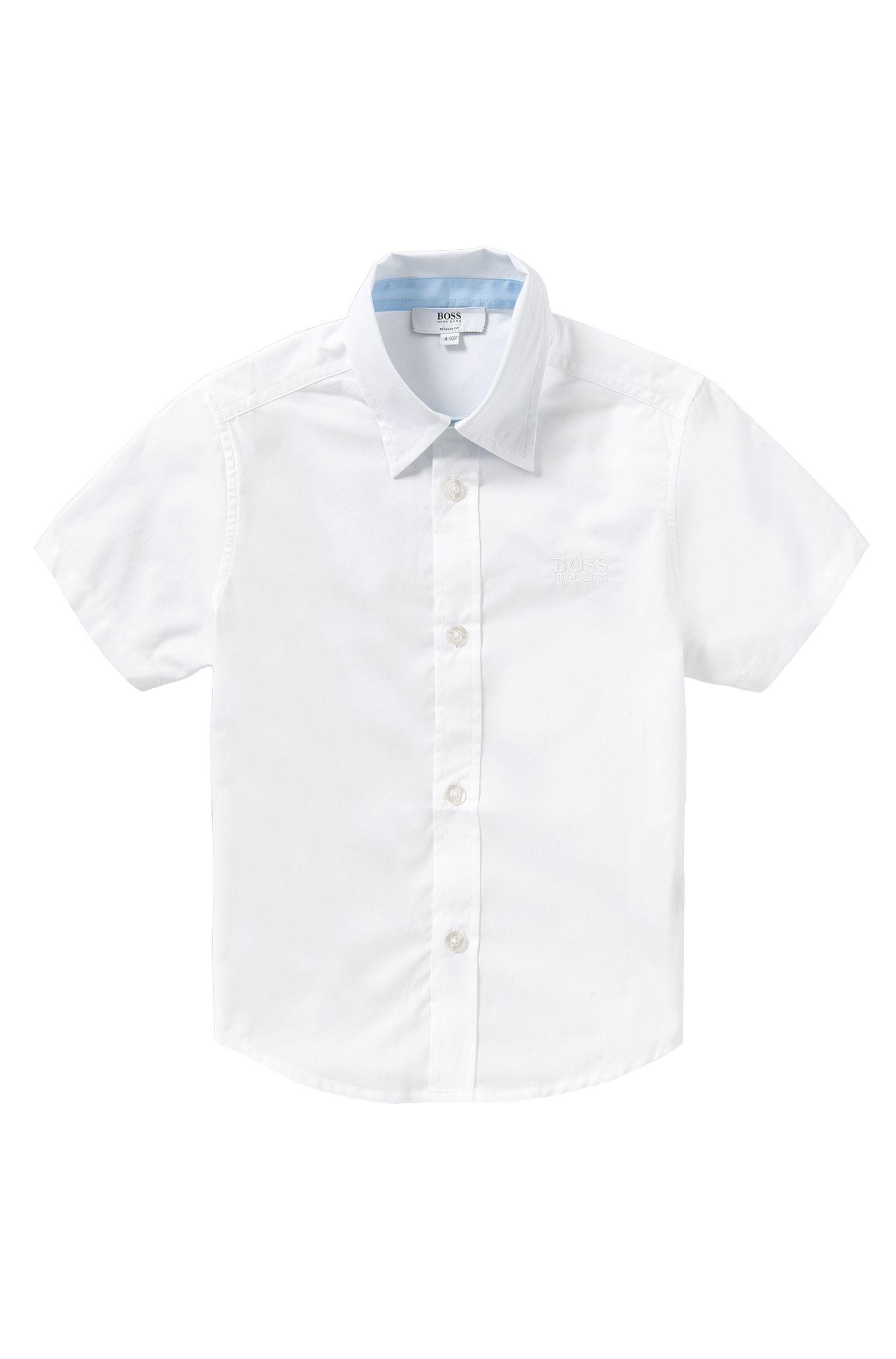 'J25944' | Boys Stretch Cotton Button Down Shirt