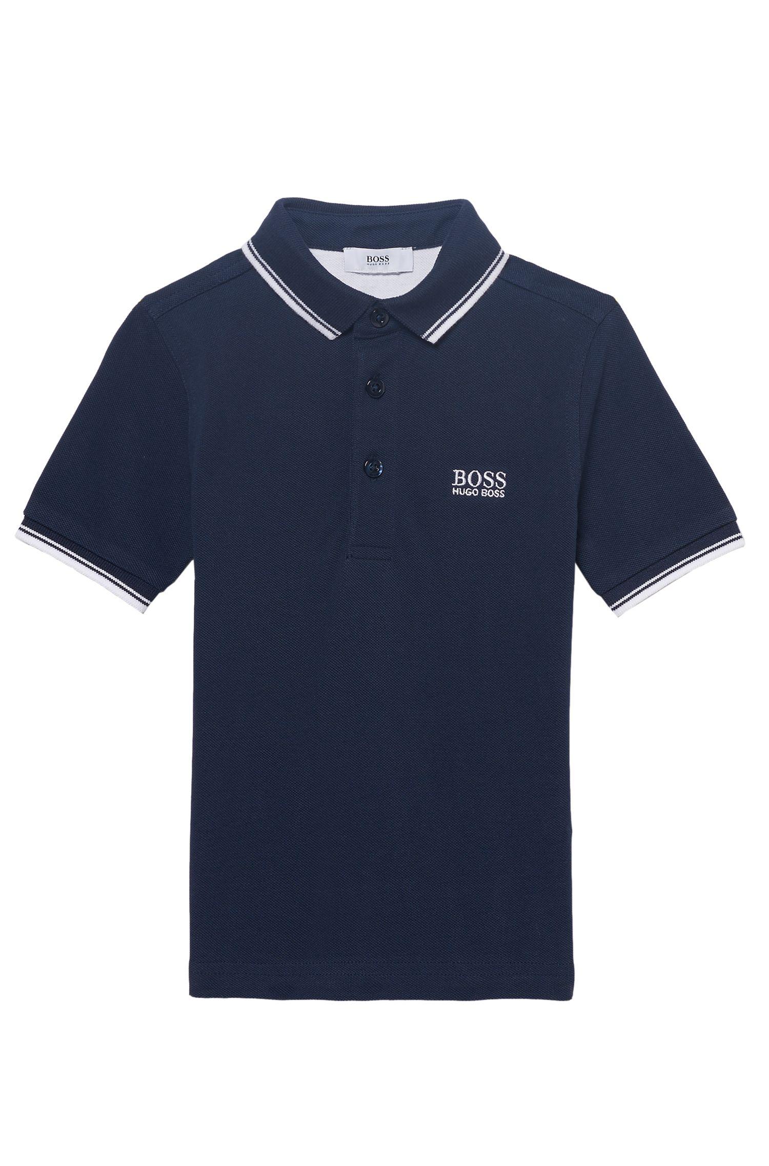 'J25V10' | Boys Cotton Pique Polo Shirt