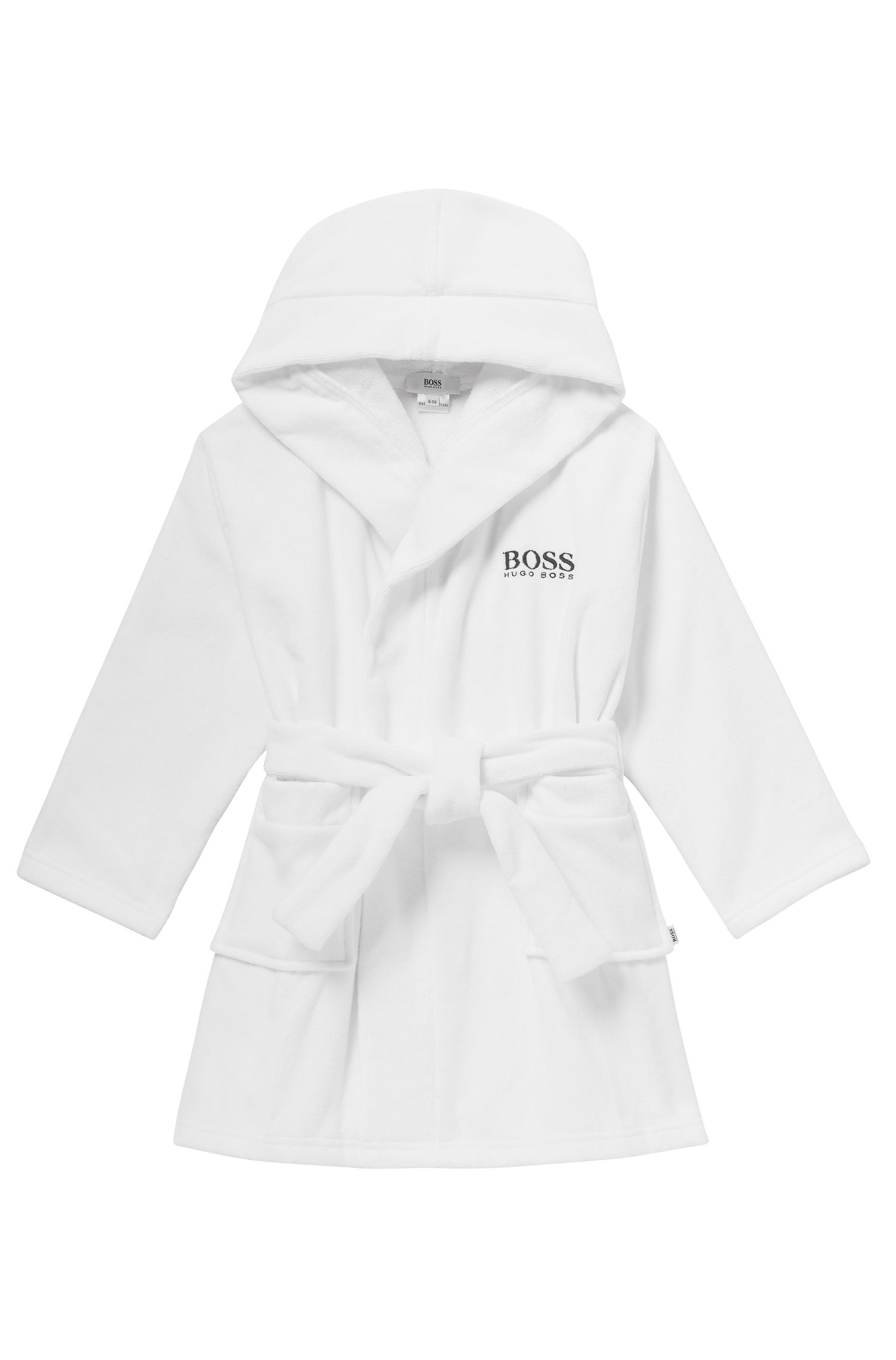 'J27V60' | Boys Cotton Terry Hooded Bath Robe