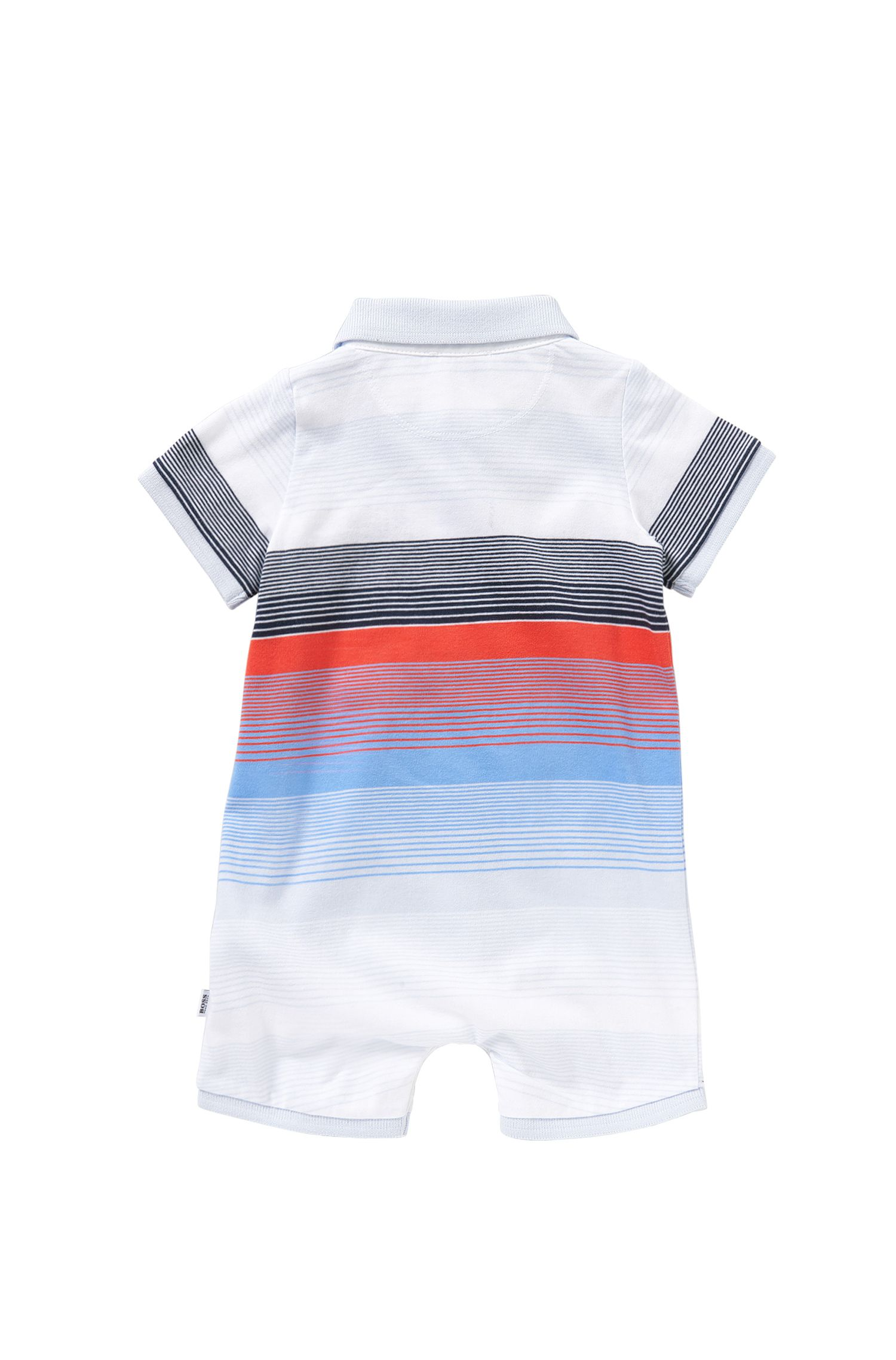 'J94159' | Newborn Cotton Striped Polo Onesie