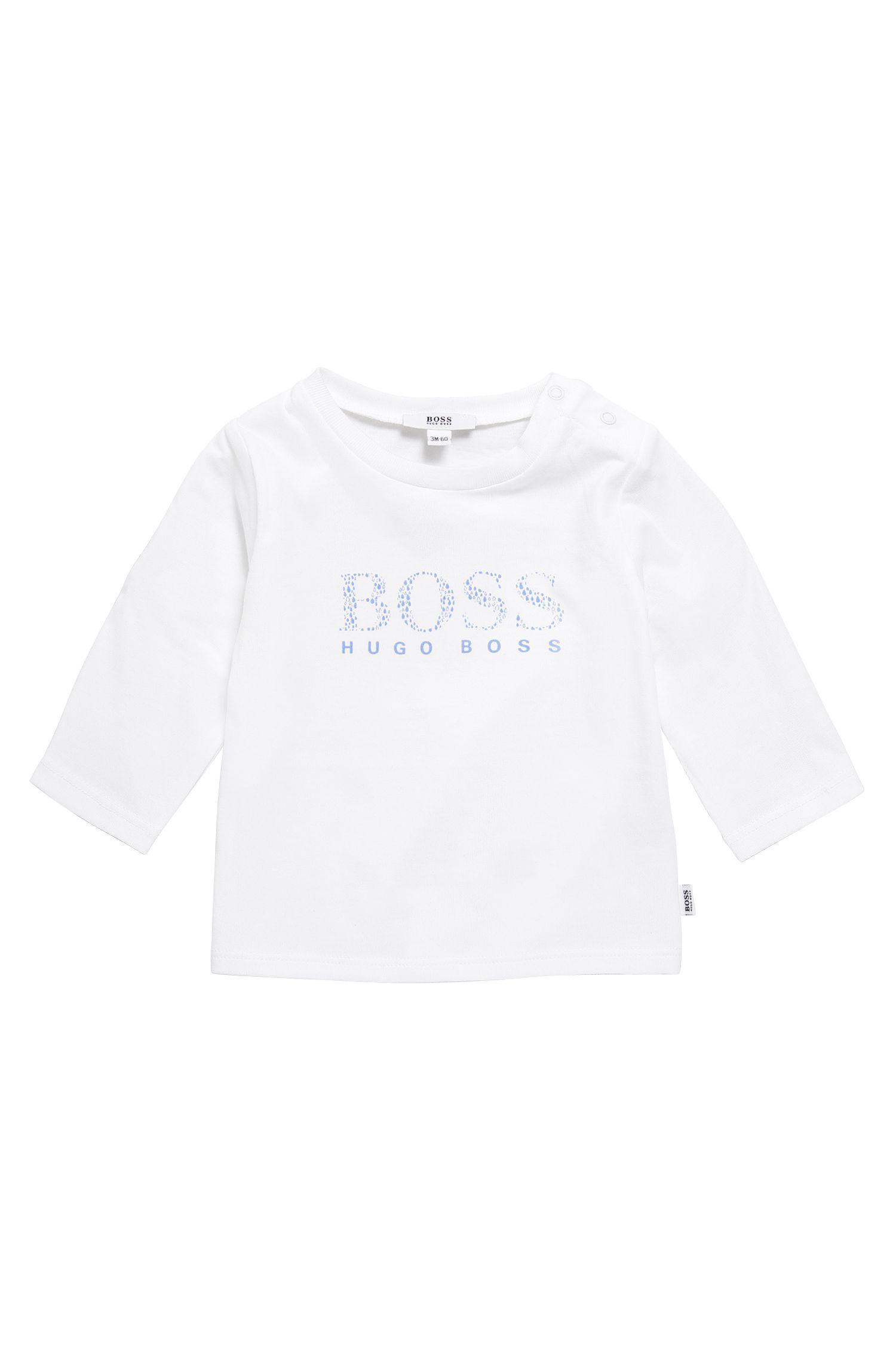 'J95207' | Newborn Stretch Cotton Button Shoulder T-Shirt