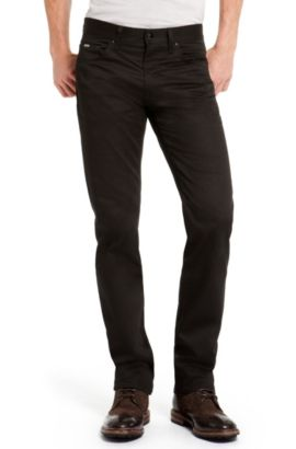 Stretch Cotton Pant, Regular Fit | Maine, Black